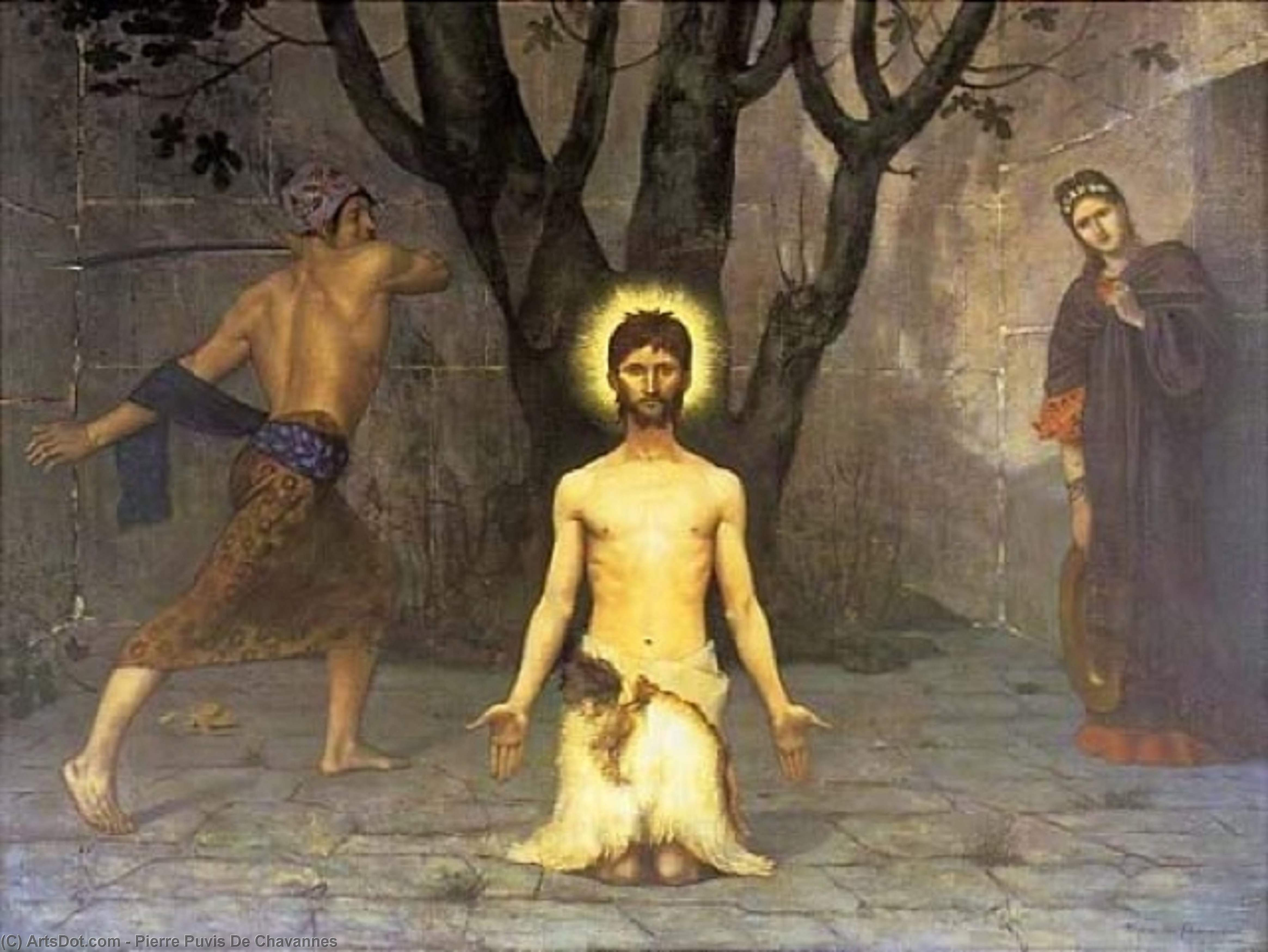 The Beheading of St. John the Baptist, Oil On Canvas by Pierre Puvis De Chavannes (1824-1898, France)