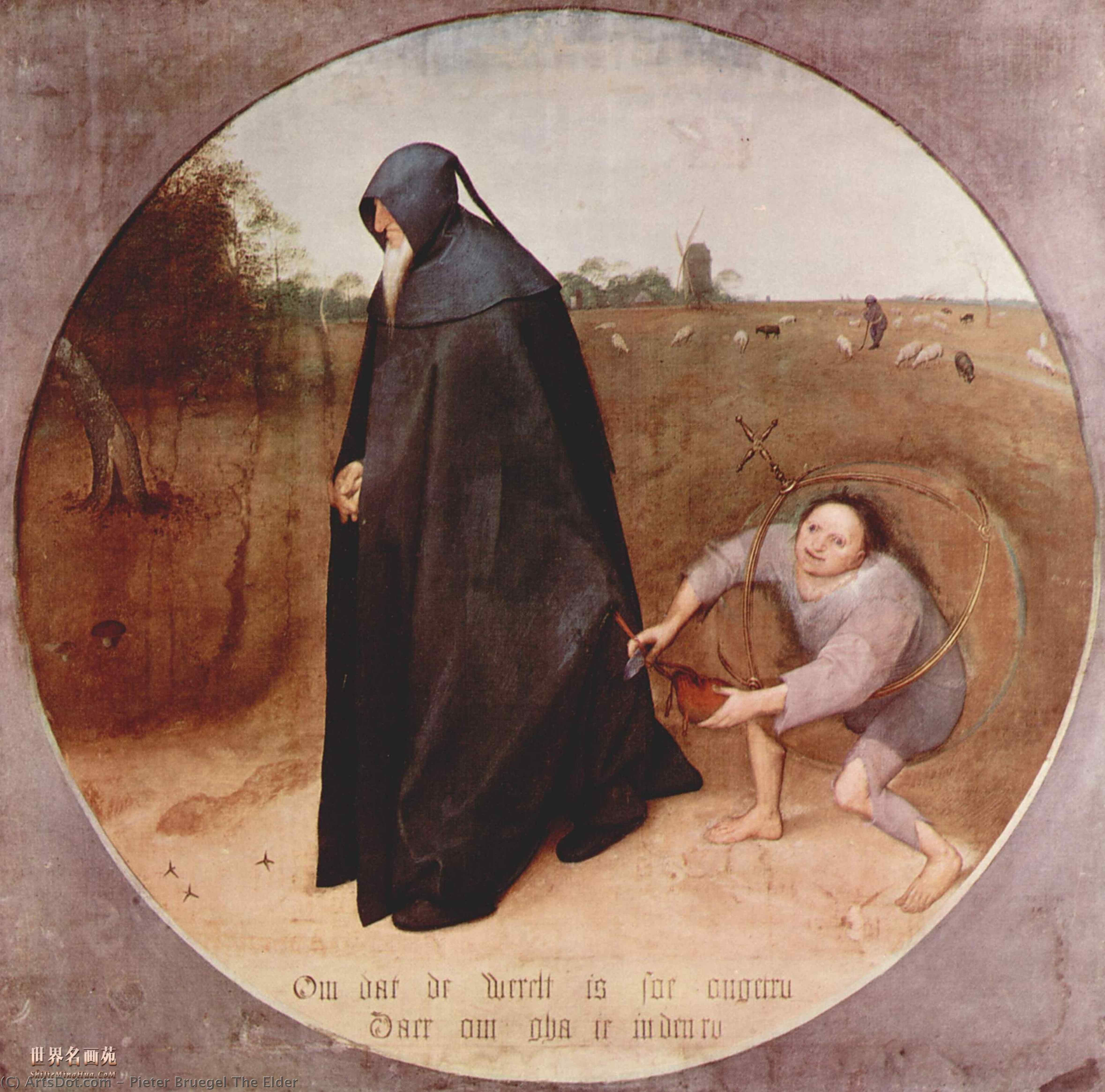 Buy Museum Art Reproductions : Misanthrope, 1568 by Pieter Bruegel The Elder (1525-1569, Belgium) | ArtsDot.com