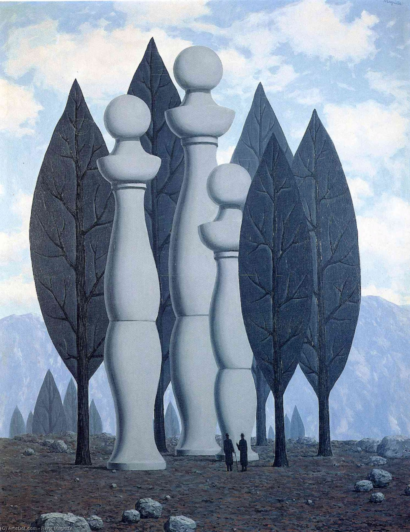 The art of conversation, Oil On Canvas by Rene Magritte (1898-1967, Belgium)