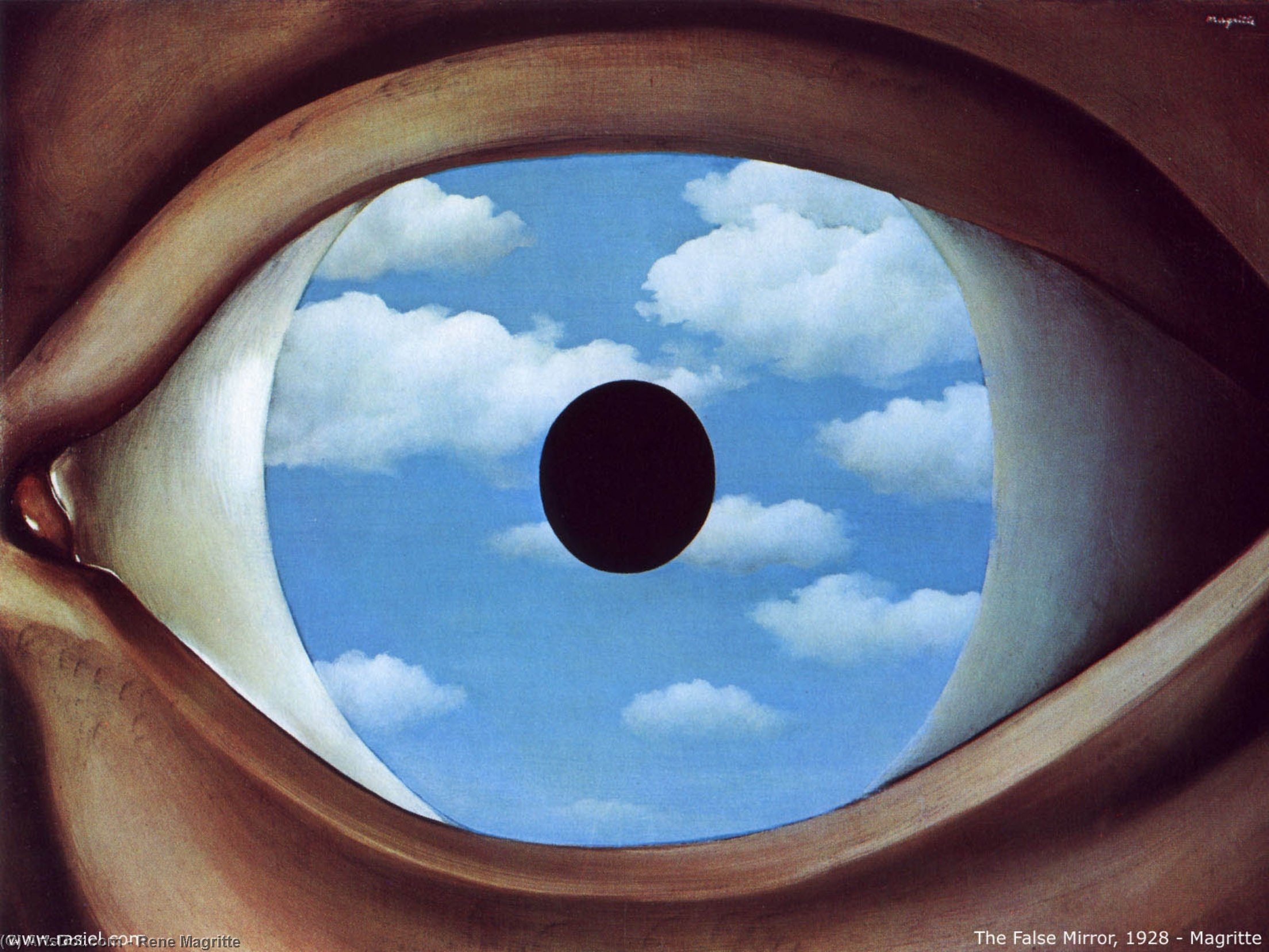 The false mirror, 1928 by Rene Magritte (1898-1967, Belgium) | ArtsDot.com