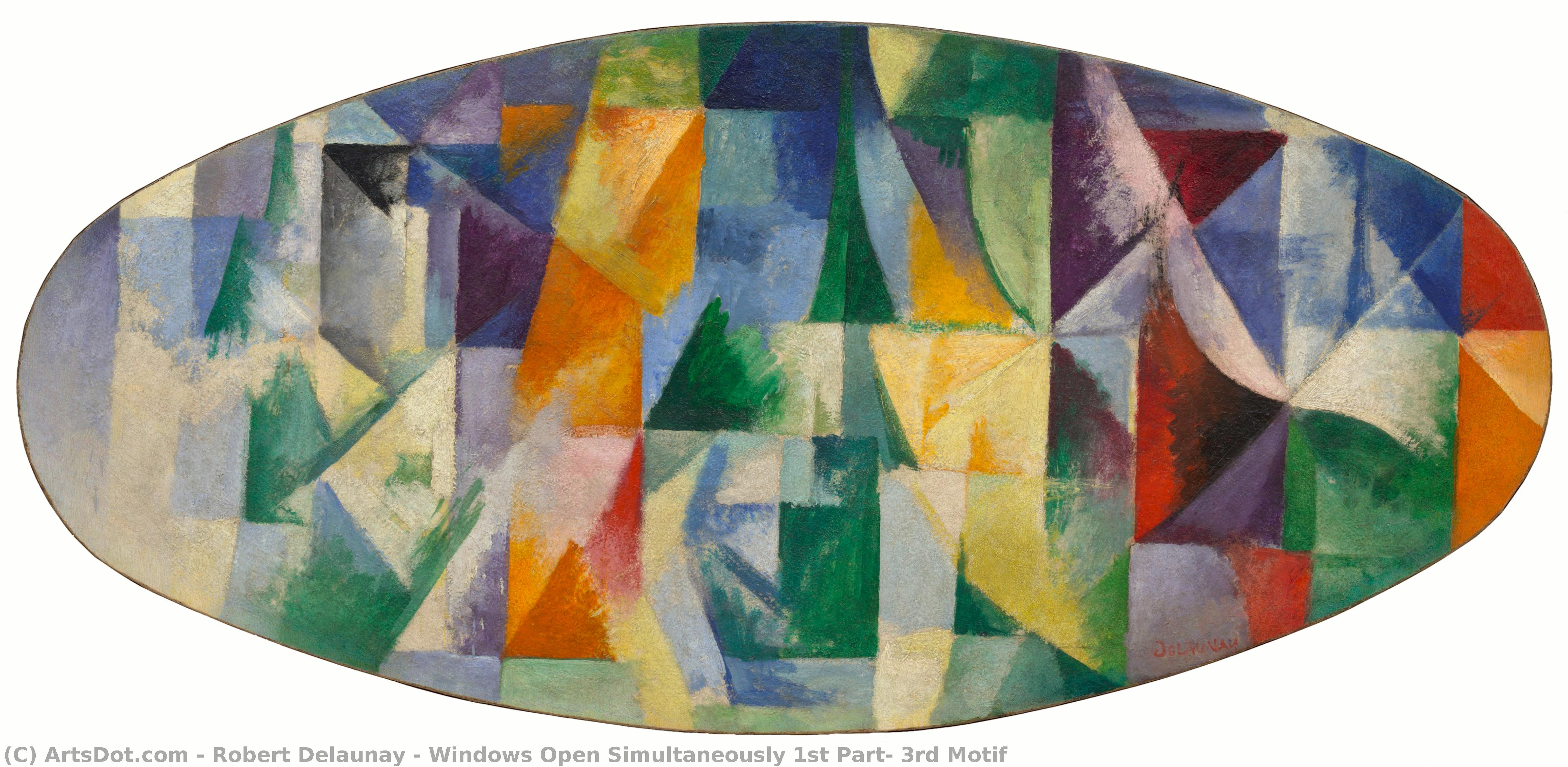 Windows Open Simultaneously 1st Part, 3rd Motif, 1912 by Robert Delaunay (1885-1941, France) | Museum Quality Reproductions | ArtsDot.com