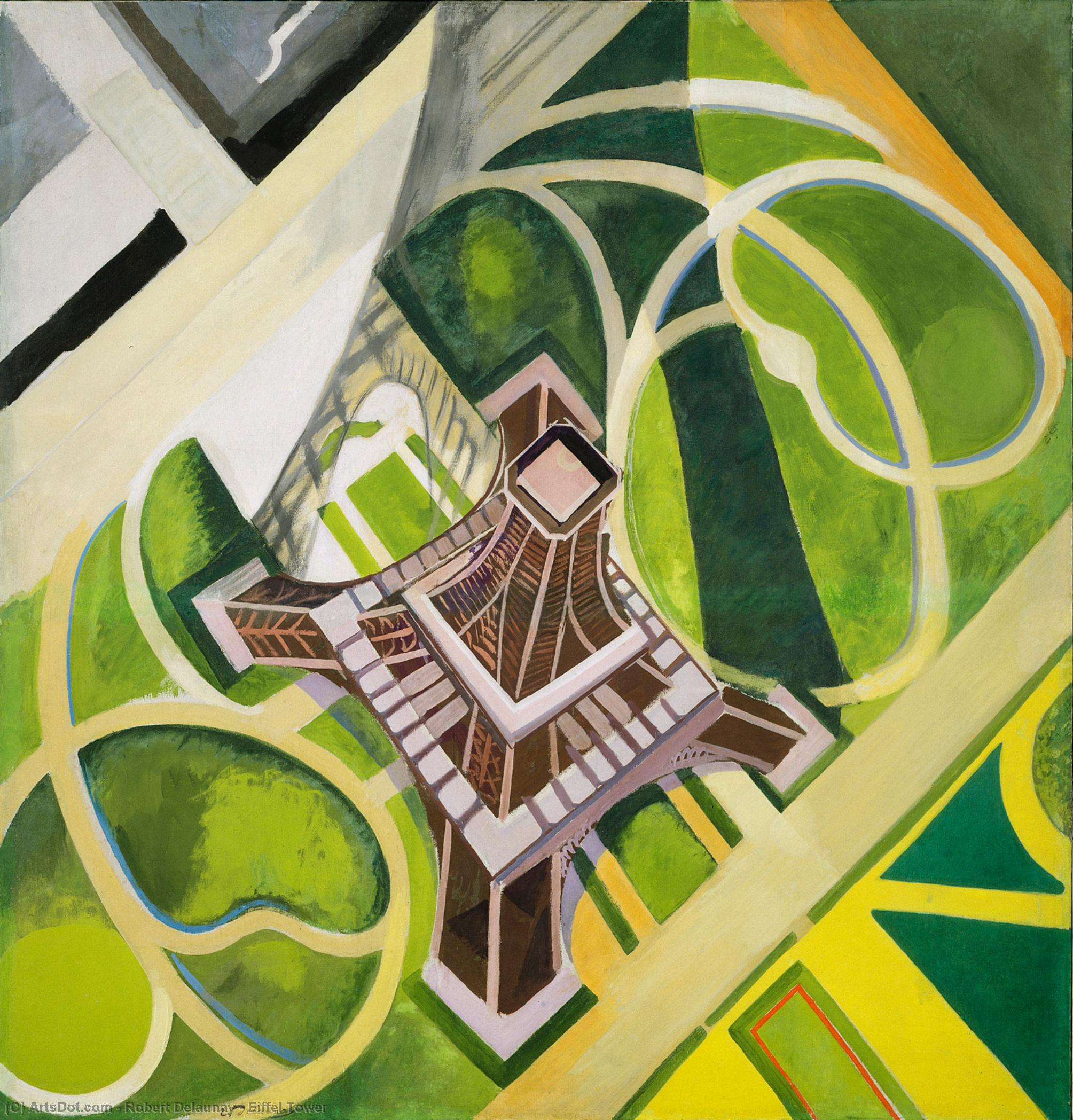 Eiffel Tower by Robert Delaunay (1885-1941, France) | Oil Painting | ArtsDot.com