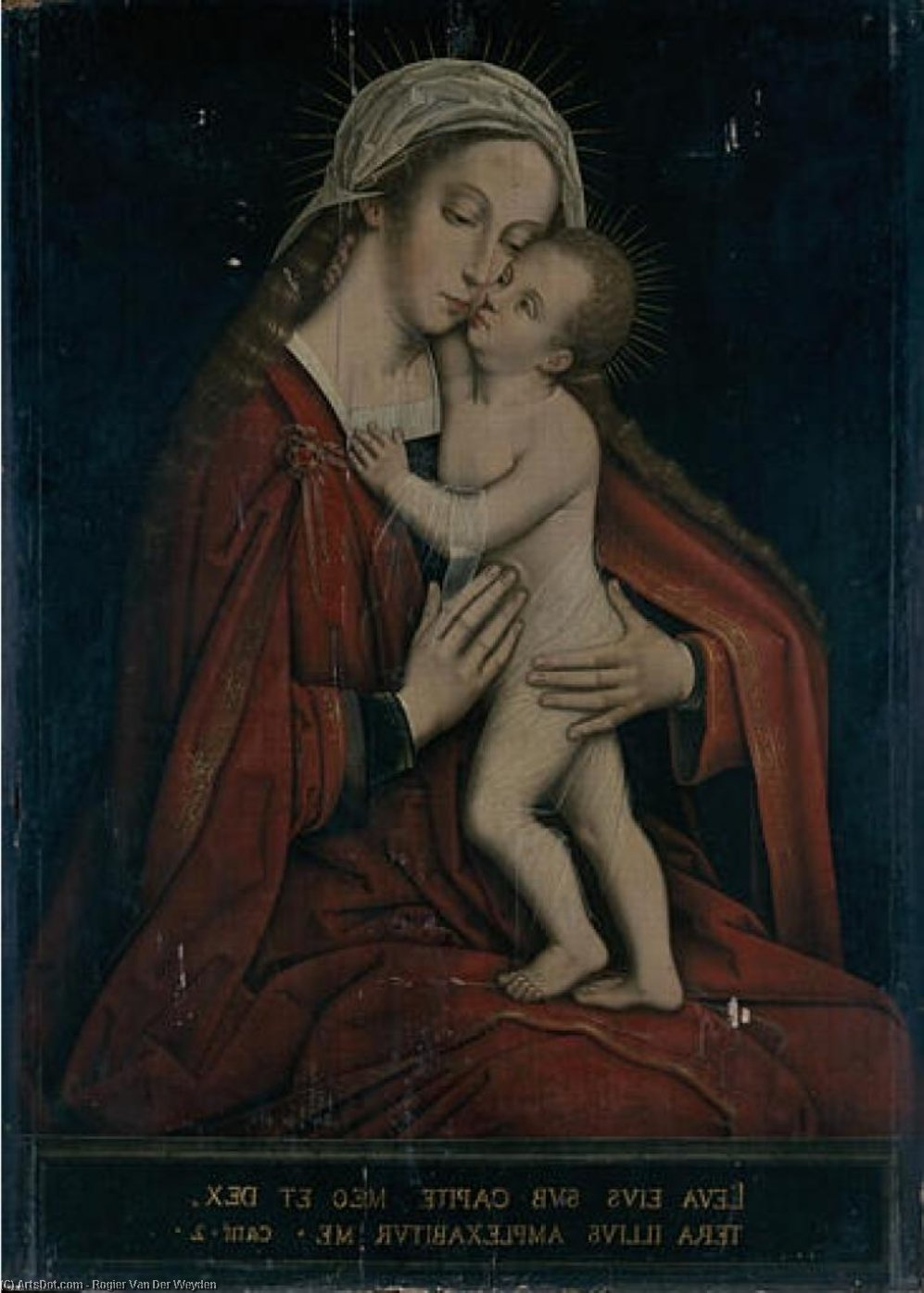 Order Oil Painting : Virgin and Child by Rogier Van Der Weyden (1400-1464, Belgium) | ArtsDot.com