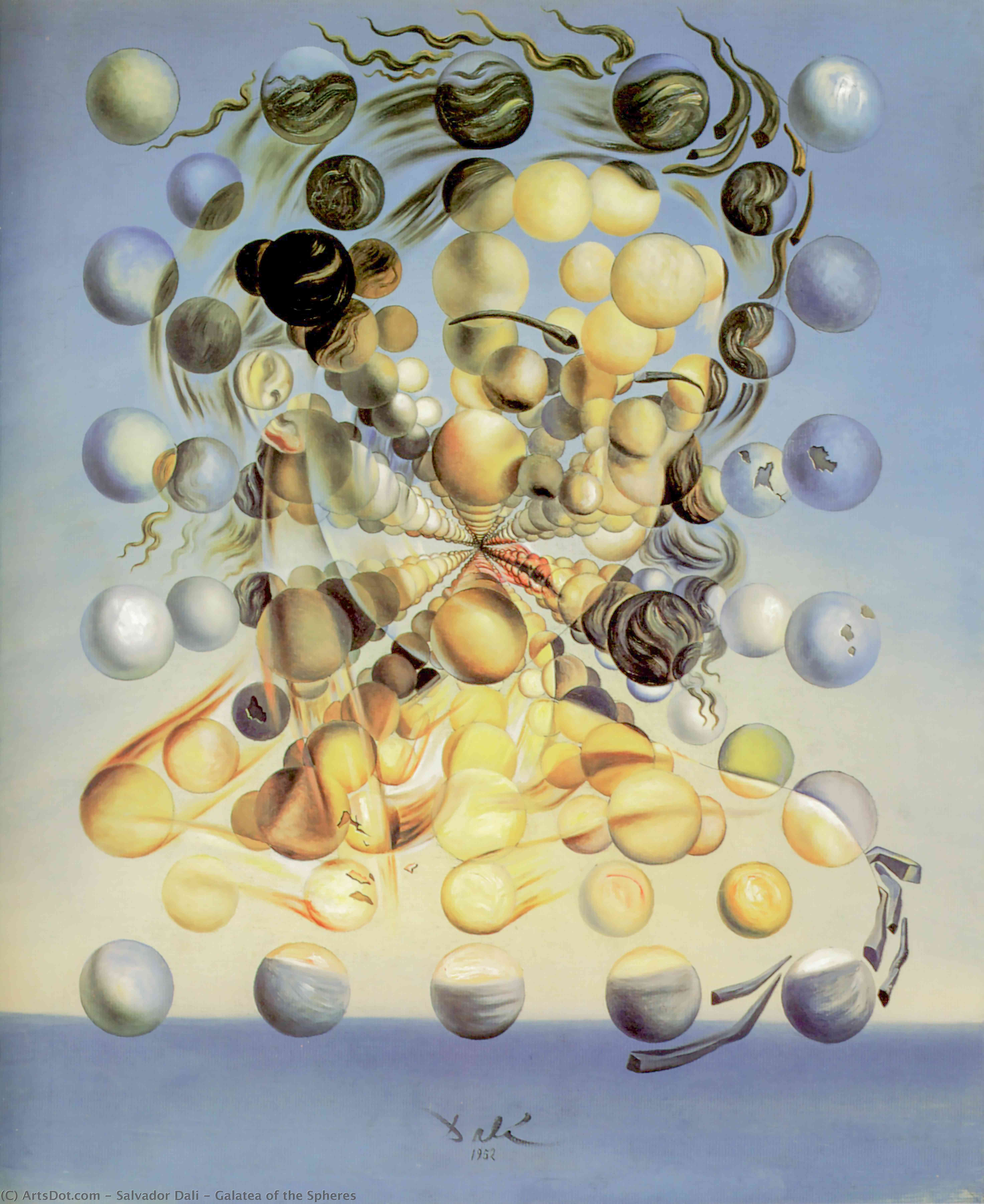Galatea of the Spheres, 1932 by Salvador Dali (1938-1989, Spain) | Museum Quality Reproductions | ArtsDot.com