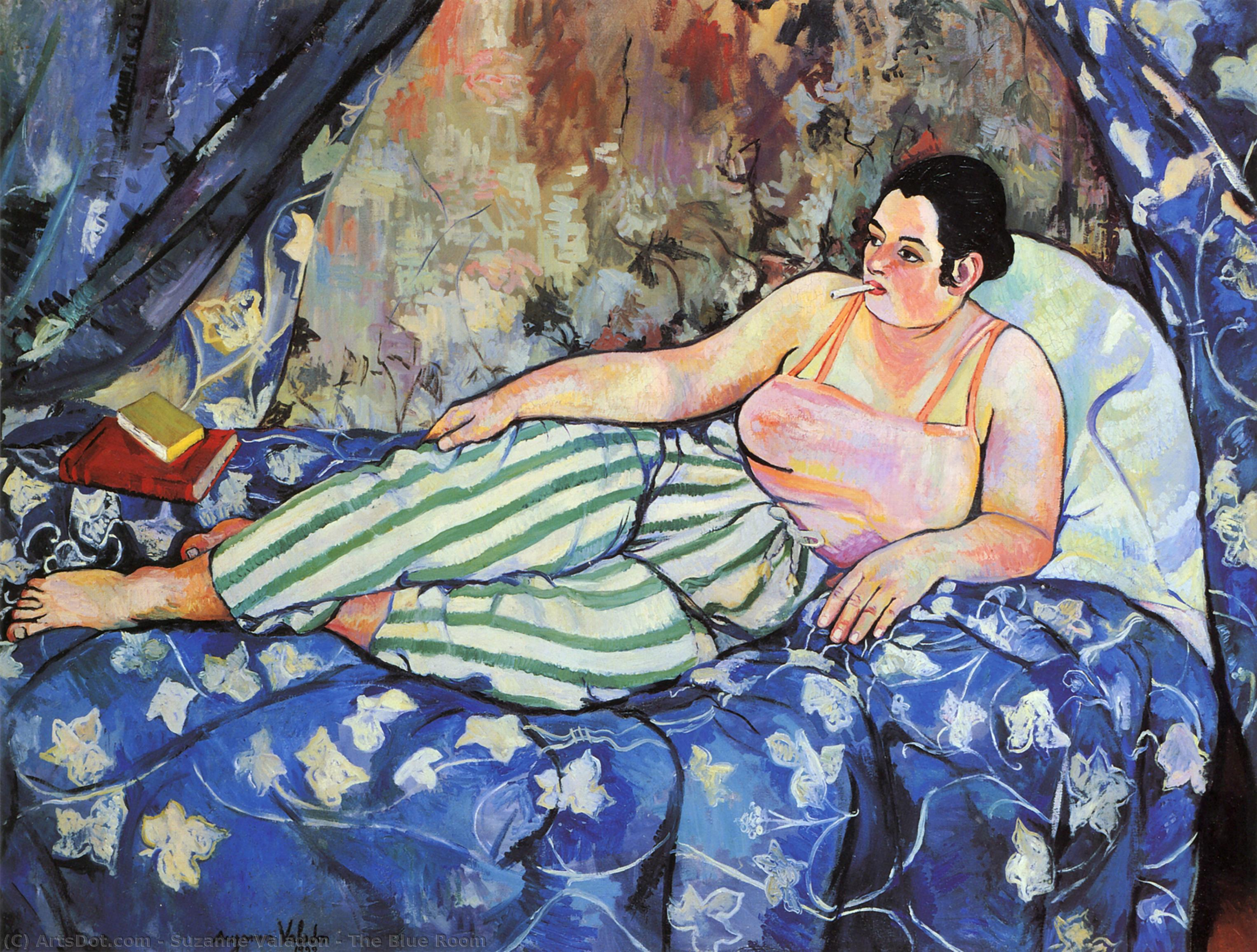 The Blue Room, 1923 by Suzanne Valadon (1865-1938, France) | Museum Art Reproductions Suzanne Valadon | ArtsDot.com