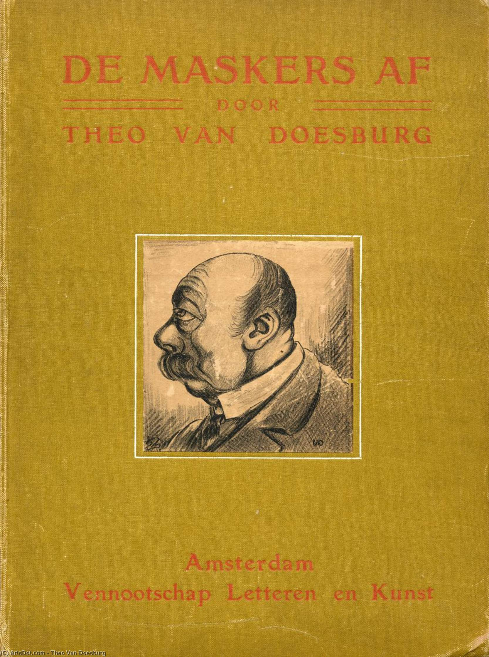 Cover of ''The masks'', 1910 by Theo Van Doesburg (1883-1931, Netherlands)