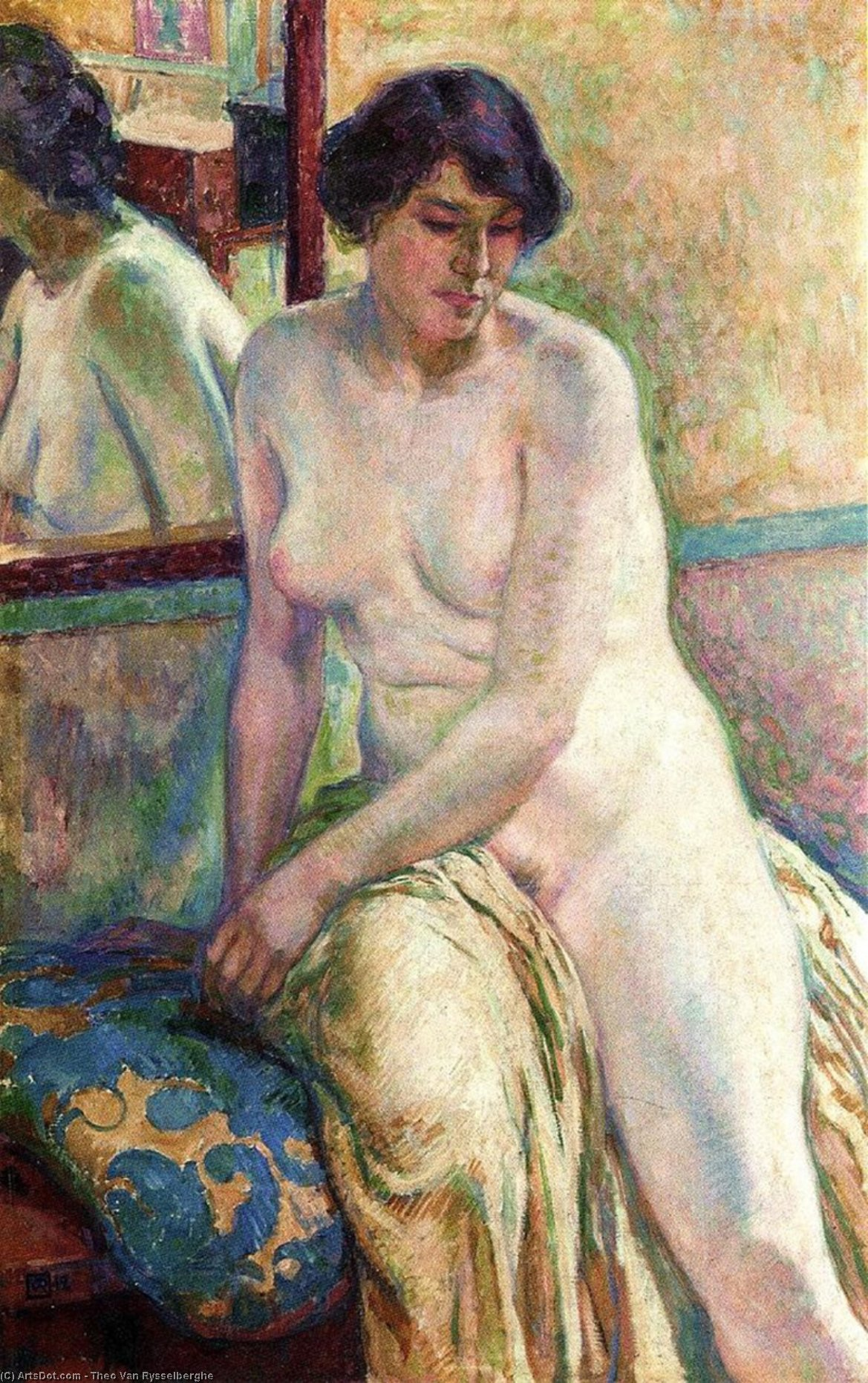 Venetian Woman (Marcella), Oil On Canvas by Theo Van Rysselberghe (1862-1926, Belgium)