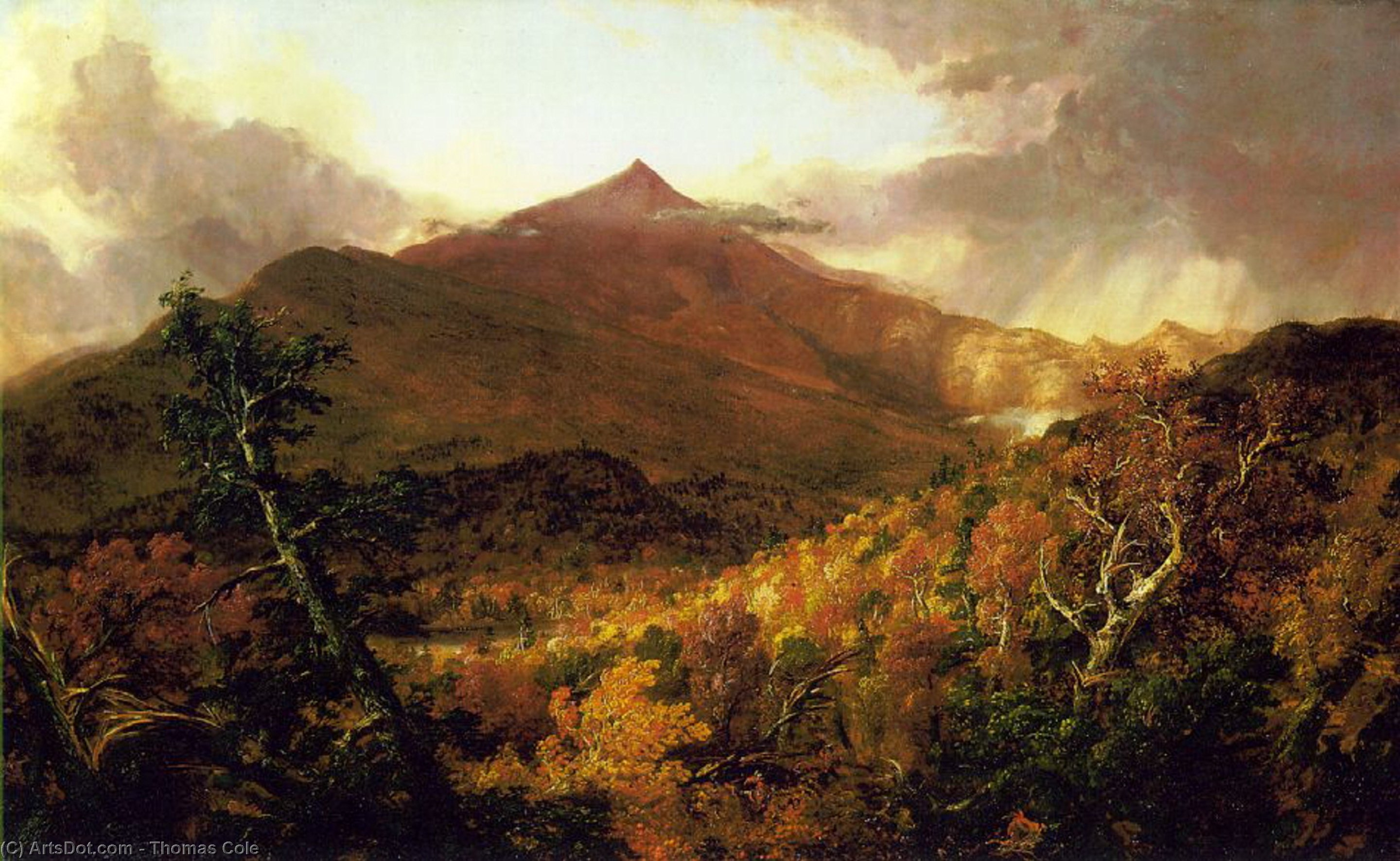 Schroon Mountain, Adirondacks, Oil On Canvas by Thomas Cole (1801-1848, United Kingdom)