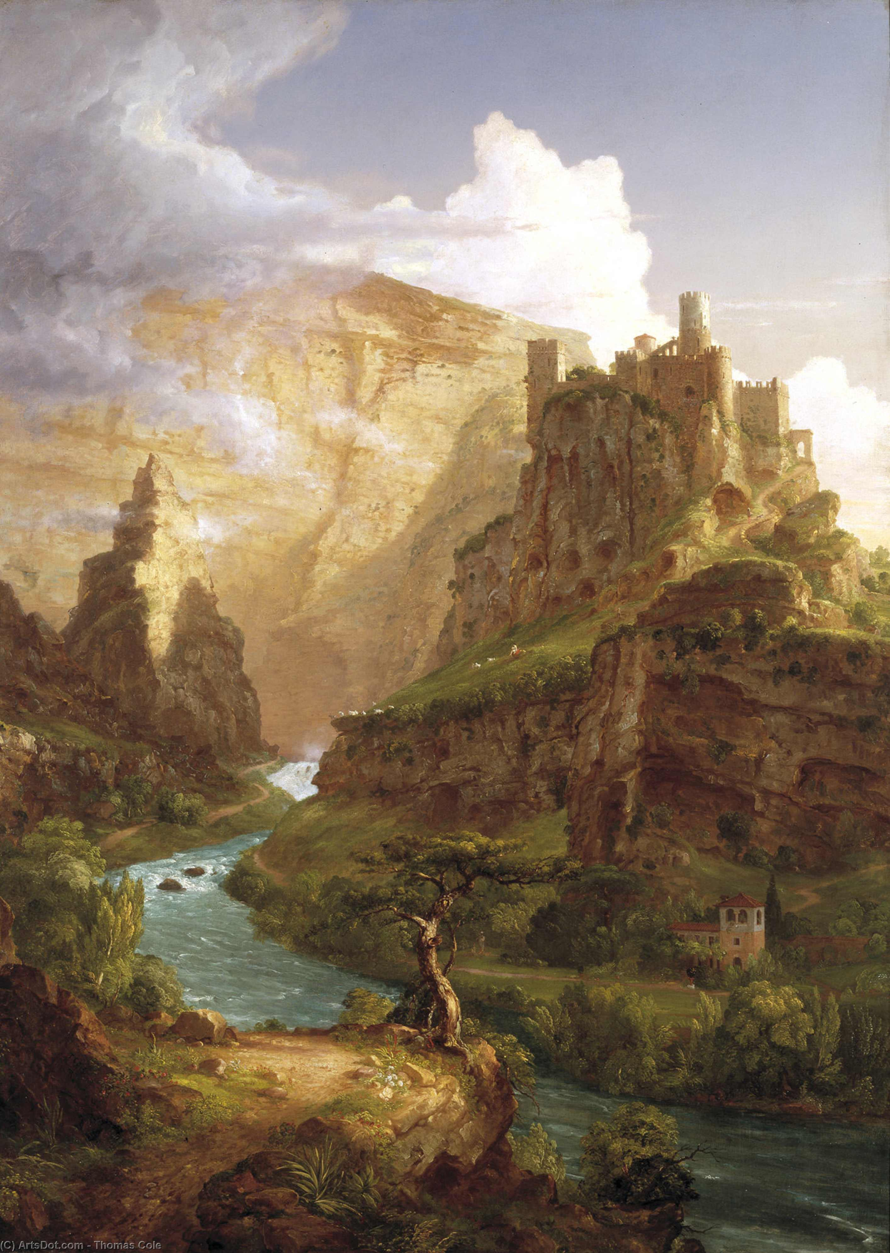 The Fountain of Vaucluse, 1841 by Thomas Cole (1801-1848, United Kingdom)