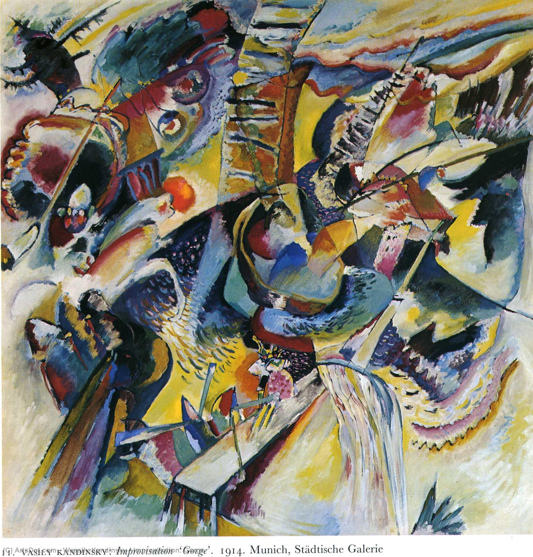 Order Reproductions | Improvisation. Gorge, 1914 by Wassily Kandinsky (1866-1944, Russia) | ArtsDot.com