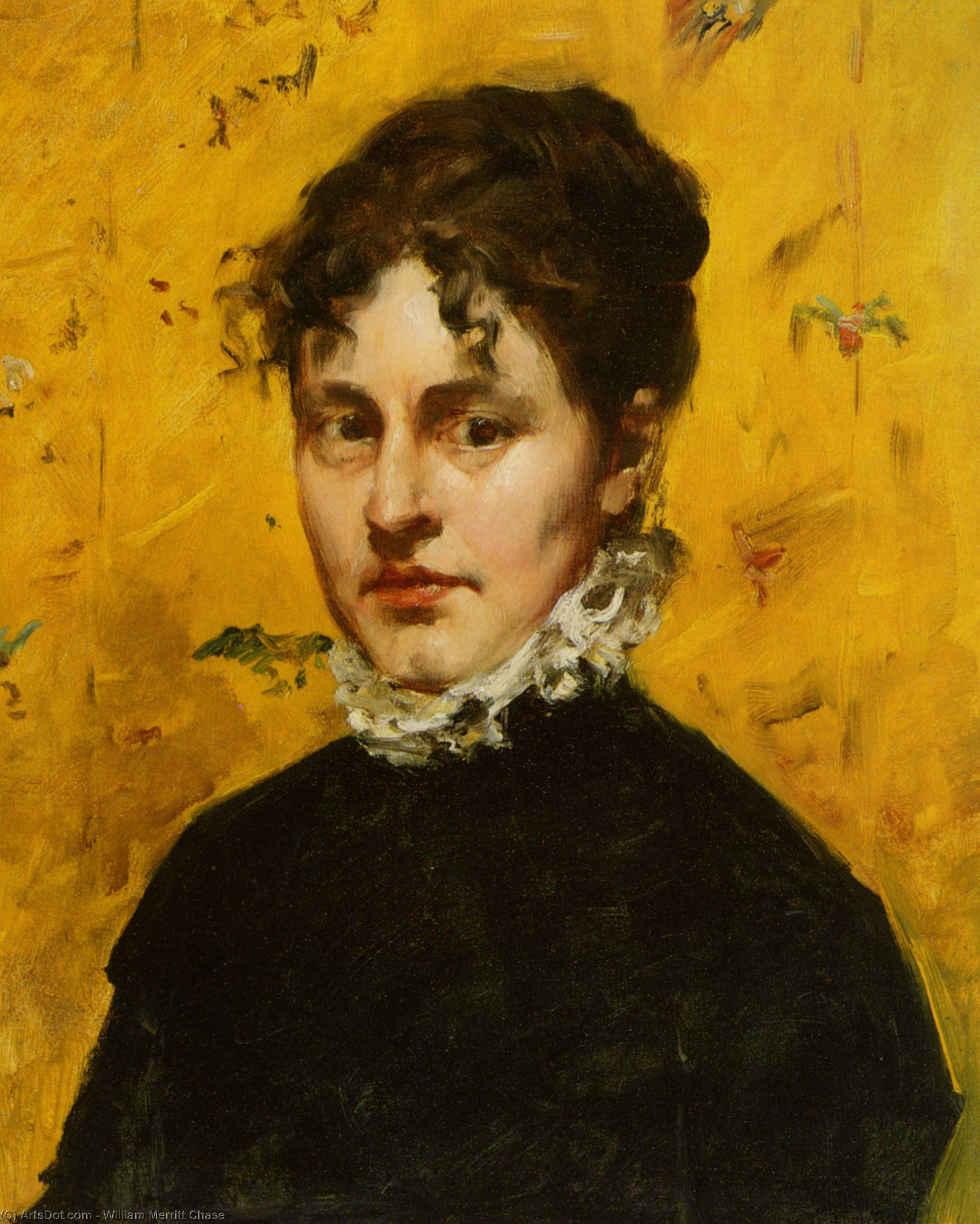 Portrait of the Artist's Sister-in-Law, Oil On Canvas by William Merritt Chase (1849-1916, United States)