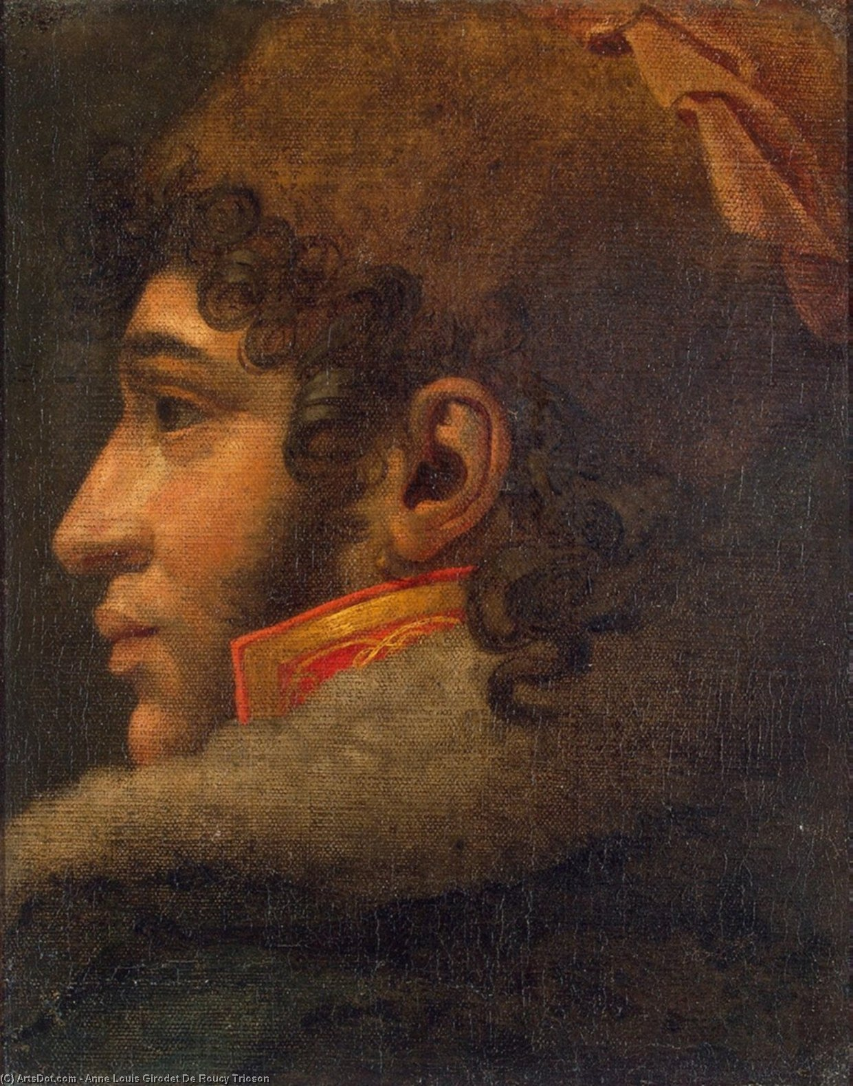 Portrait of Joachim Murat, Oil On Canvas by Anne Louis Girodet De Roucy Trioson (1767-1824, France)