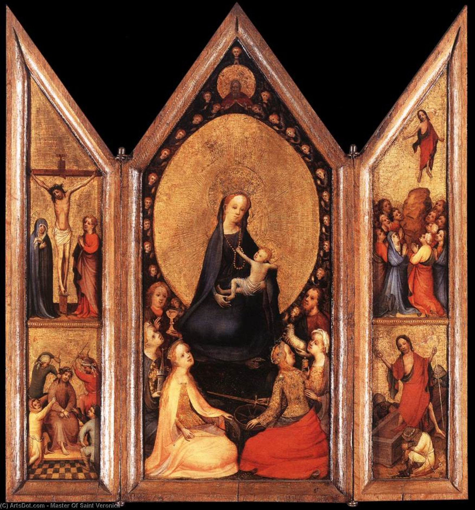 Triptych (open), 1410 by Master Of Saint Veronica | Art Reproduction | ArtsDot.com