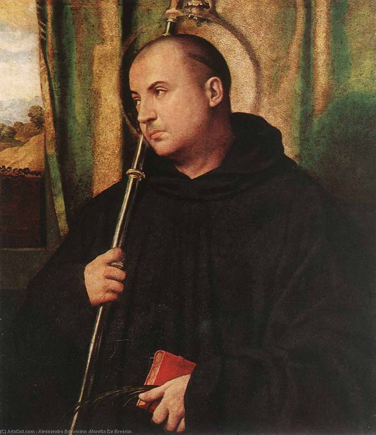 Buy Museum Art Reproductions : A Saint Monk, 1530 by Alessandro Bonvicino (Moretto Da Brescia) (1498-1554, Italy) | ArtsDot.com