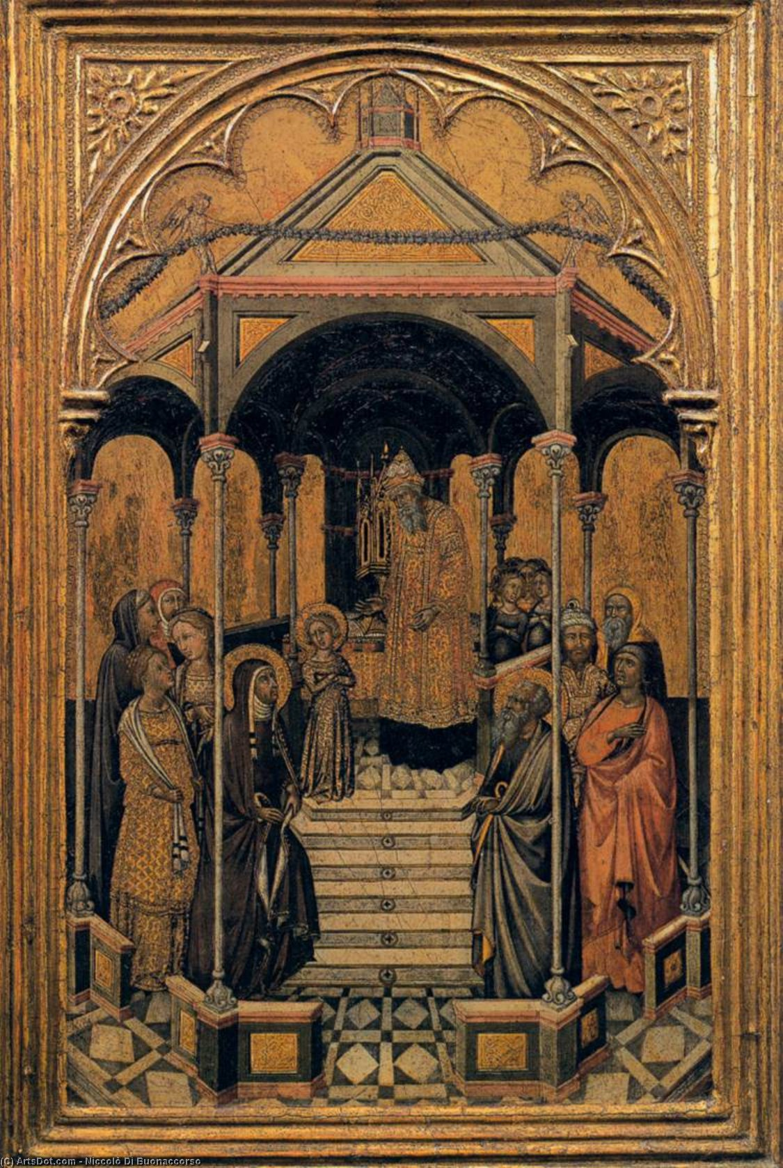 Presentation of the Virgin at the Temple, Tempera by Niccolò Di Buonaccorso