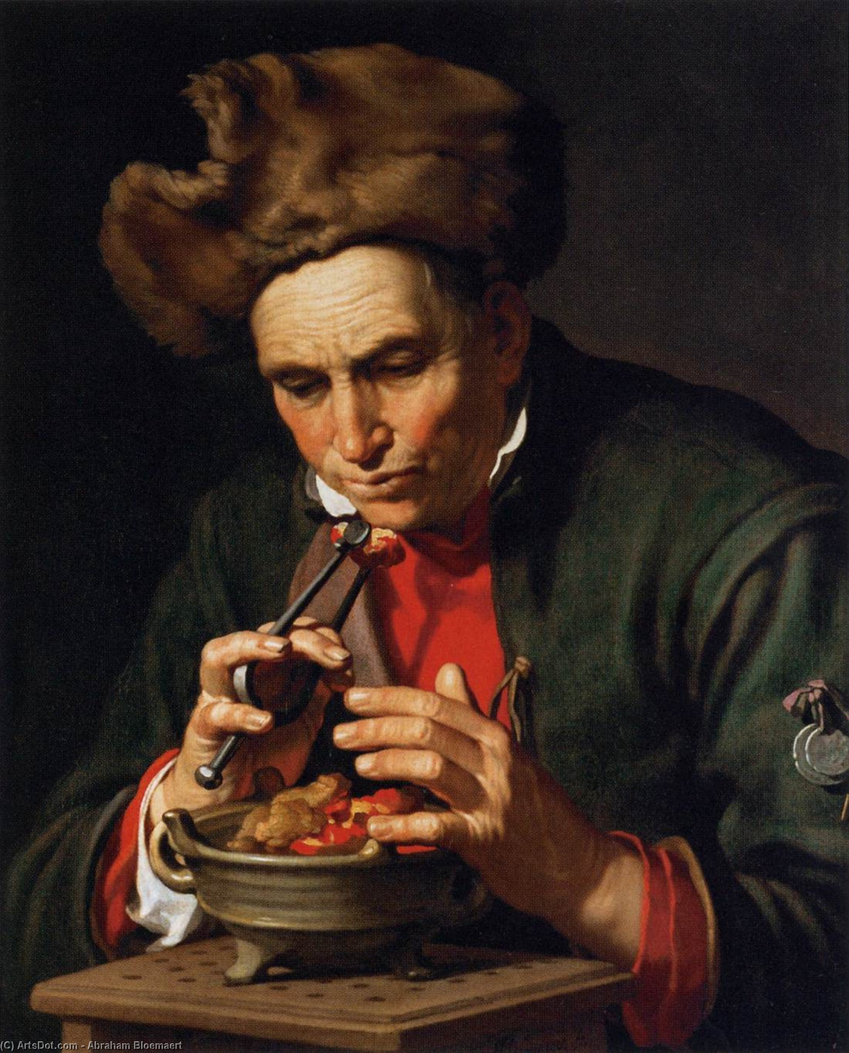 Allegory of Winter, Oil On Canvas by Abraham Bloemaert (1564-1651, Netherlands)