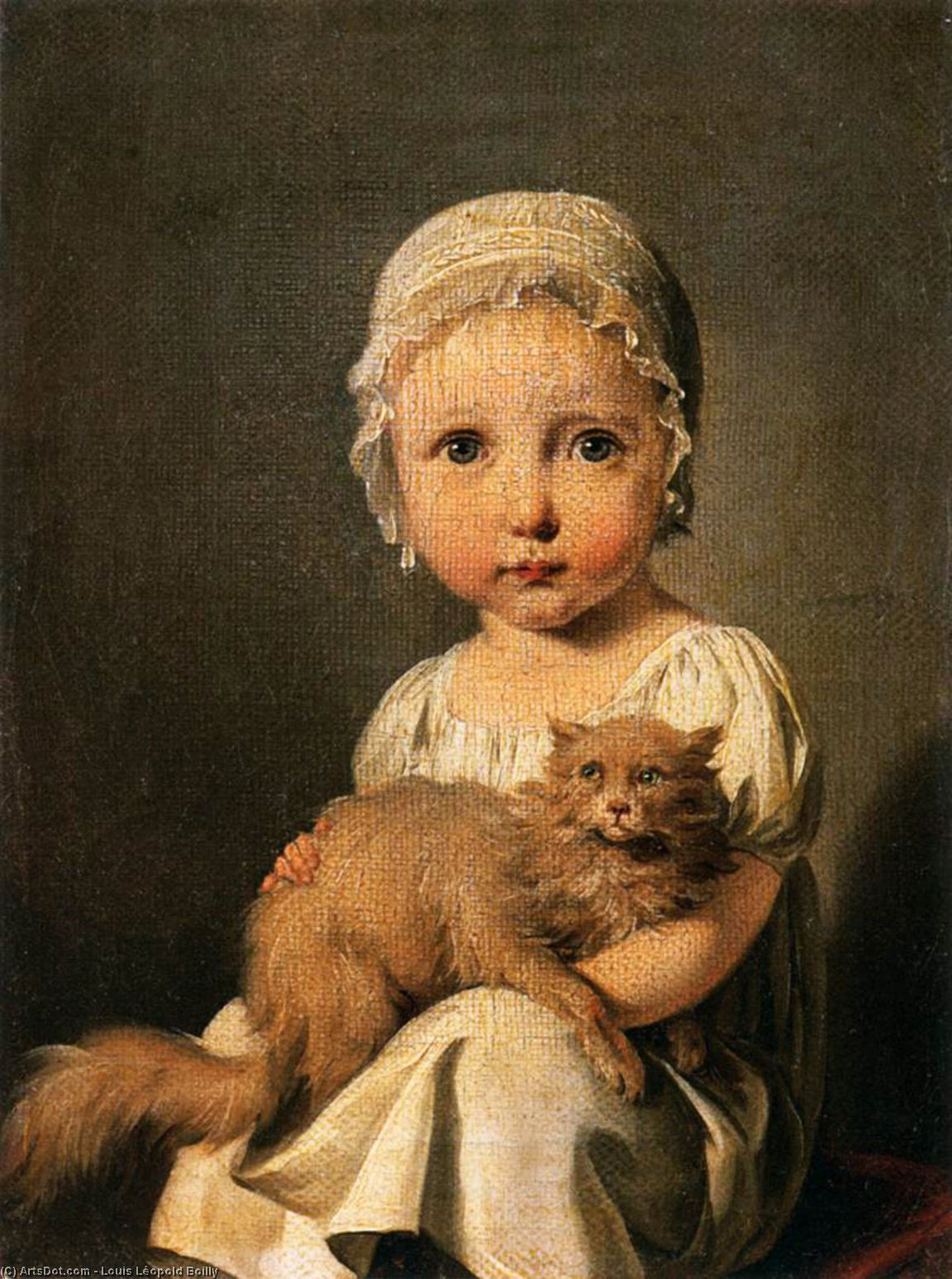 Gabrielle Arnault as a Child, Oil On Canvas by Louis Léopold Boilly (1761-1845, France)