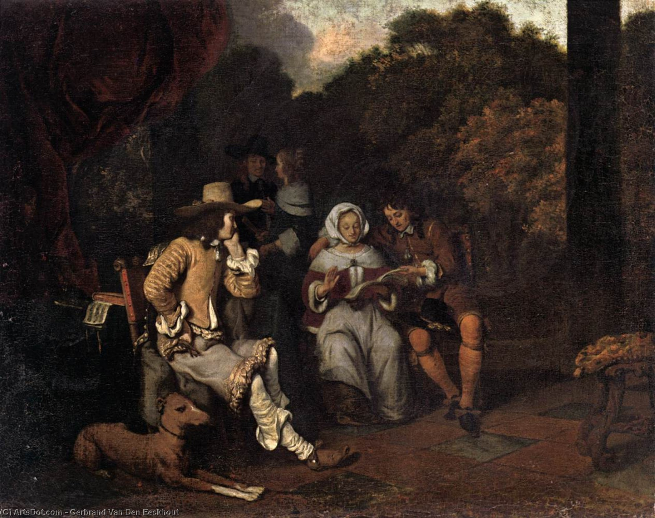 A Musical Party, Oil On Canvas by Gerbrand Van Den Eeckhout (1621-1674, Netherlands)