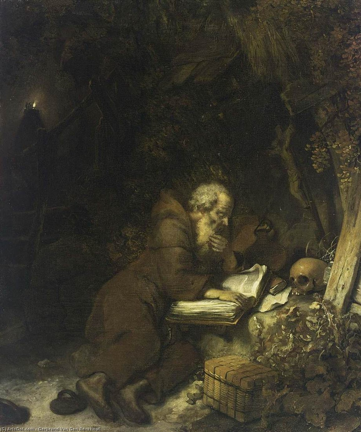 St Francis of Assisi, Oil On Canvas by Gerbrand Van Den Eeckhout (1621-1674, Netherlands)
