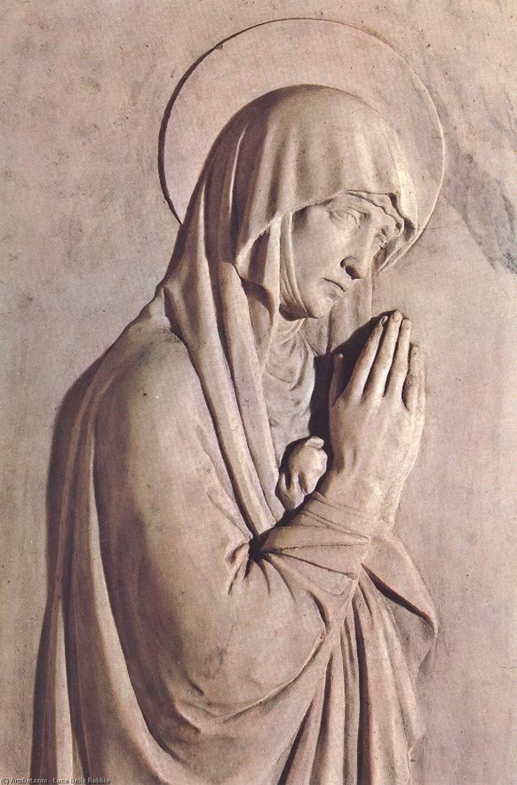 Monument to Bishop Benozzo Federighi (detail), Marble by Luca Della Robbia (1399-1482, Italy)