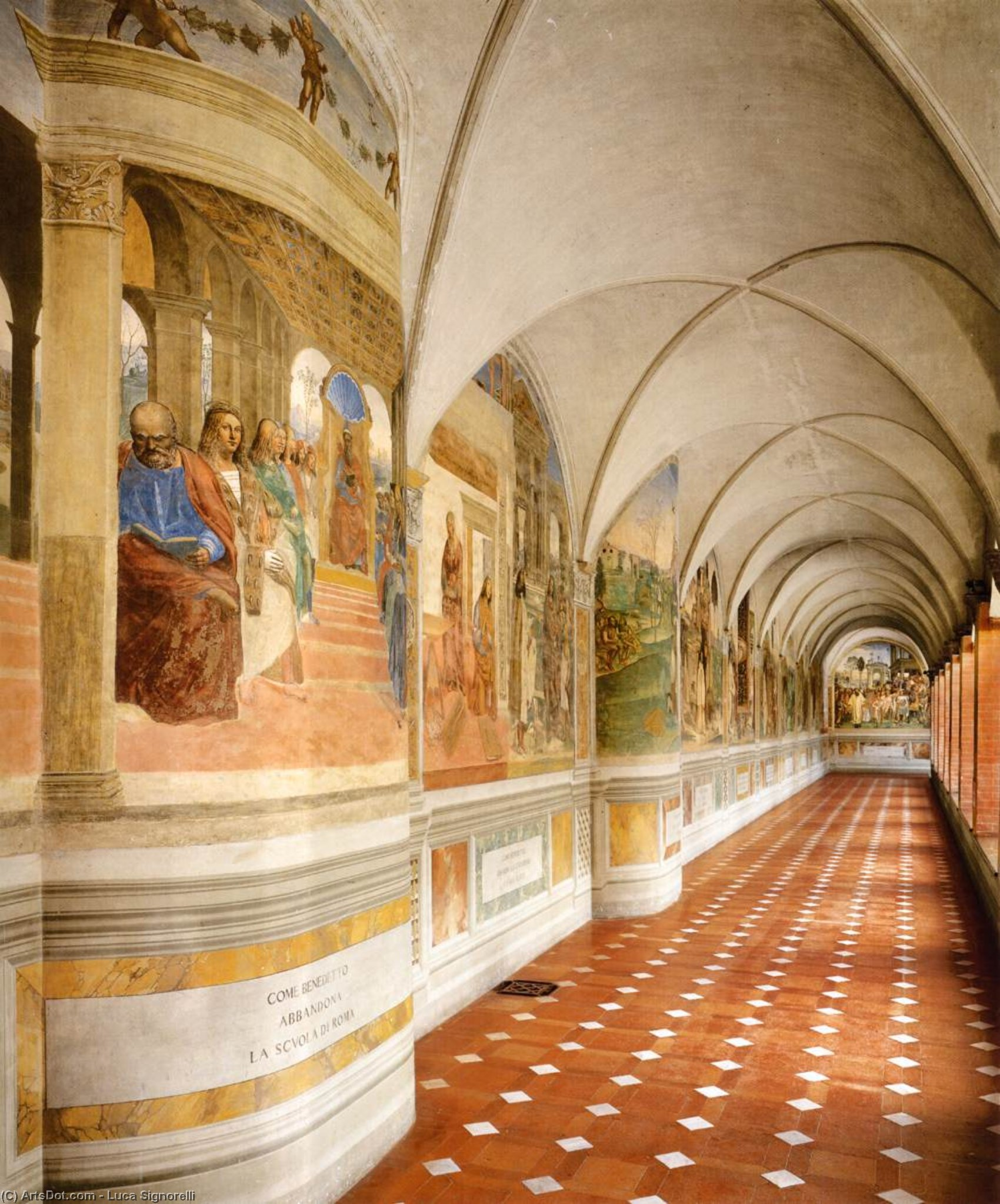 The Great Cloister, Frescoes by Luca Signorelli (1450-1523, Italy)