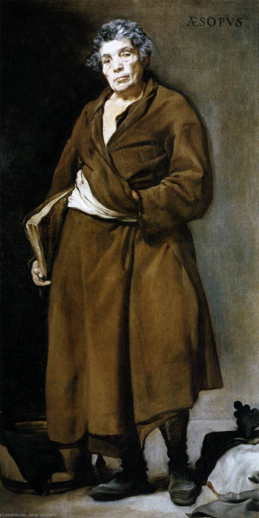 Aesop, Oil On Canvas by Diego Velazquez (1599-1660, Spain)