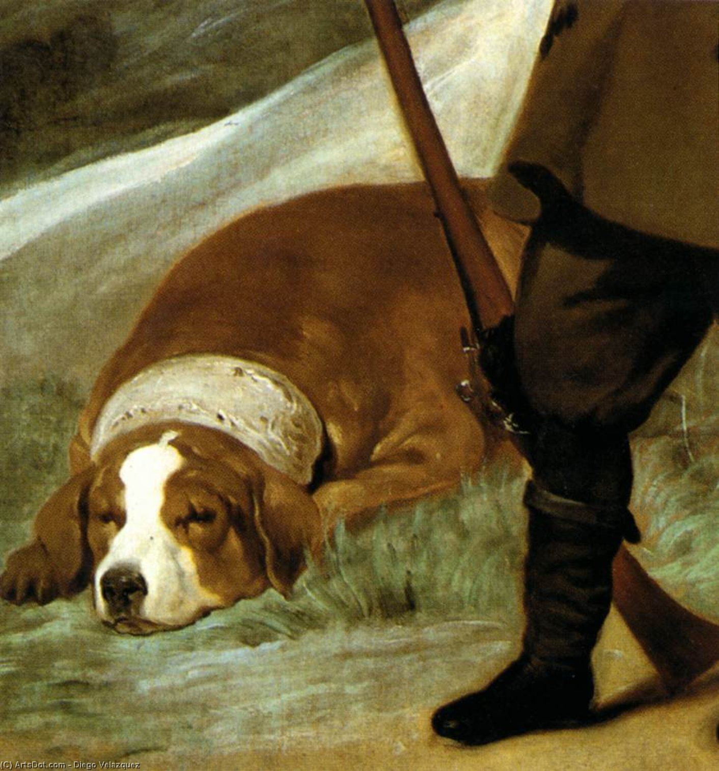 Prince Baltasar Carlos as Hunter (detail), Oil On Canvas by Diego Velazquez (1599-1660, Spain)