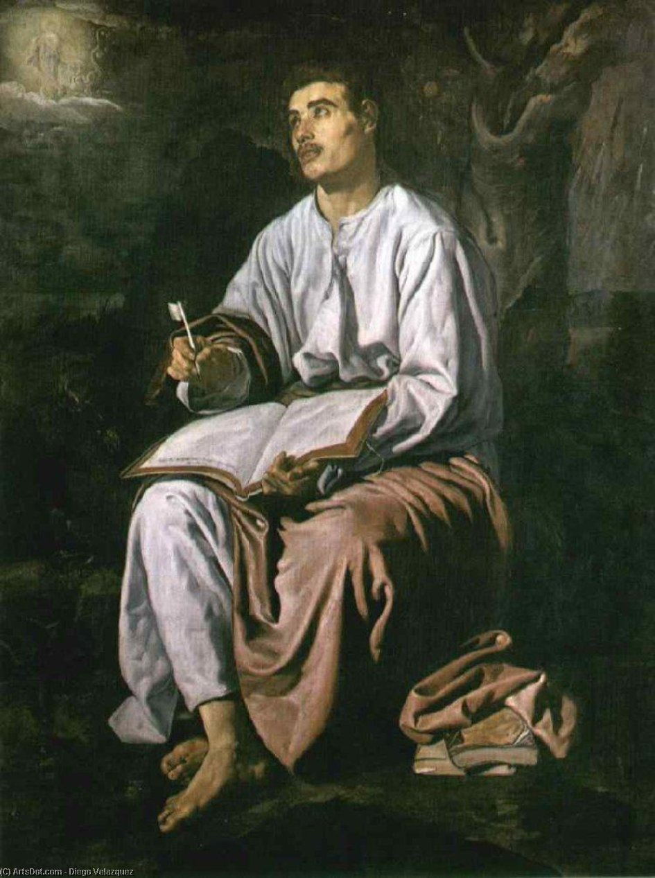 St John the Evangelist at Patmos, Oil On Canvas by Diego Velazquez (1599-1660, Spain)