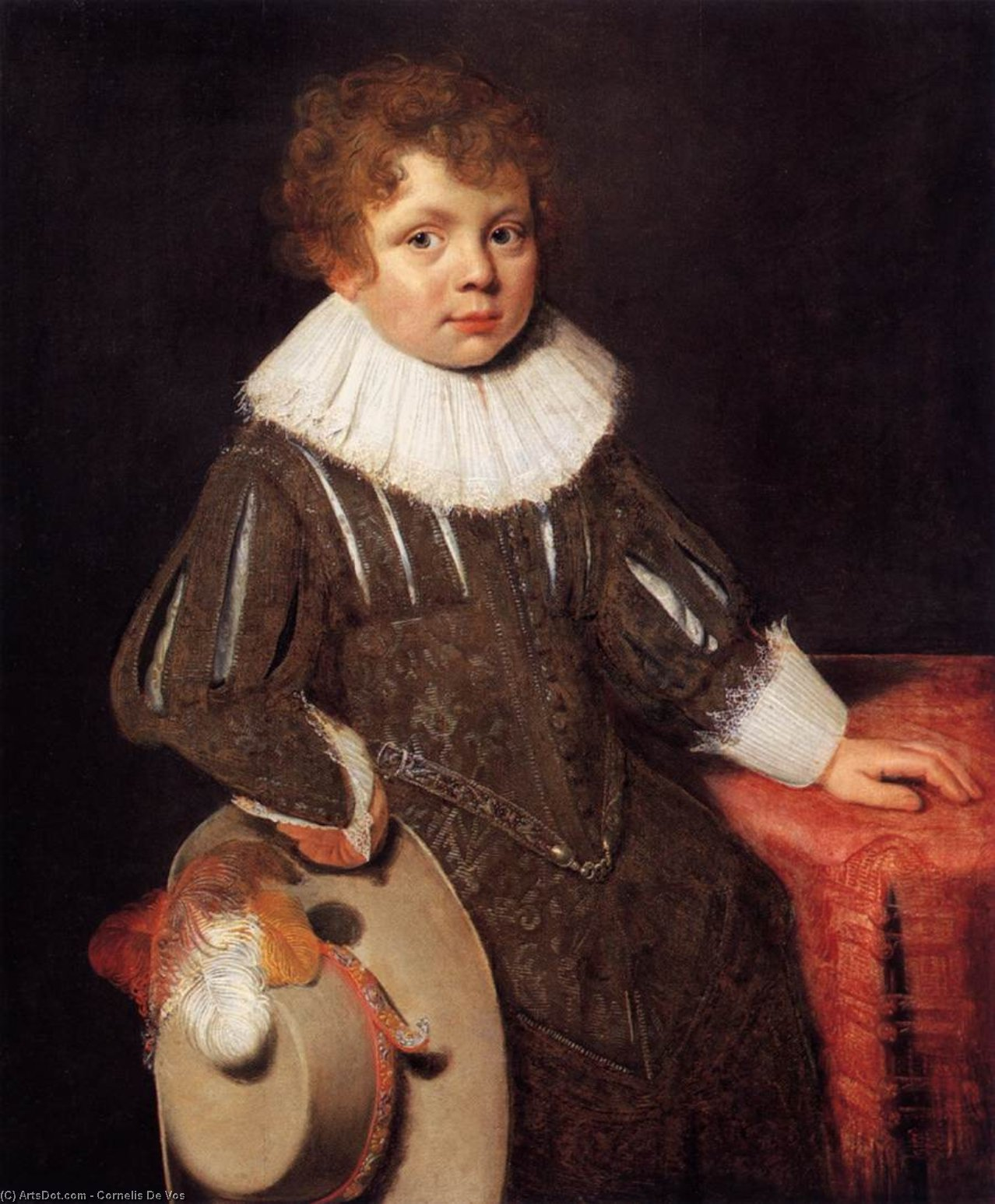 Portrait of a Boy, Oil by Cornelis De Vos (1585-1651, Belgium)