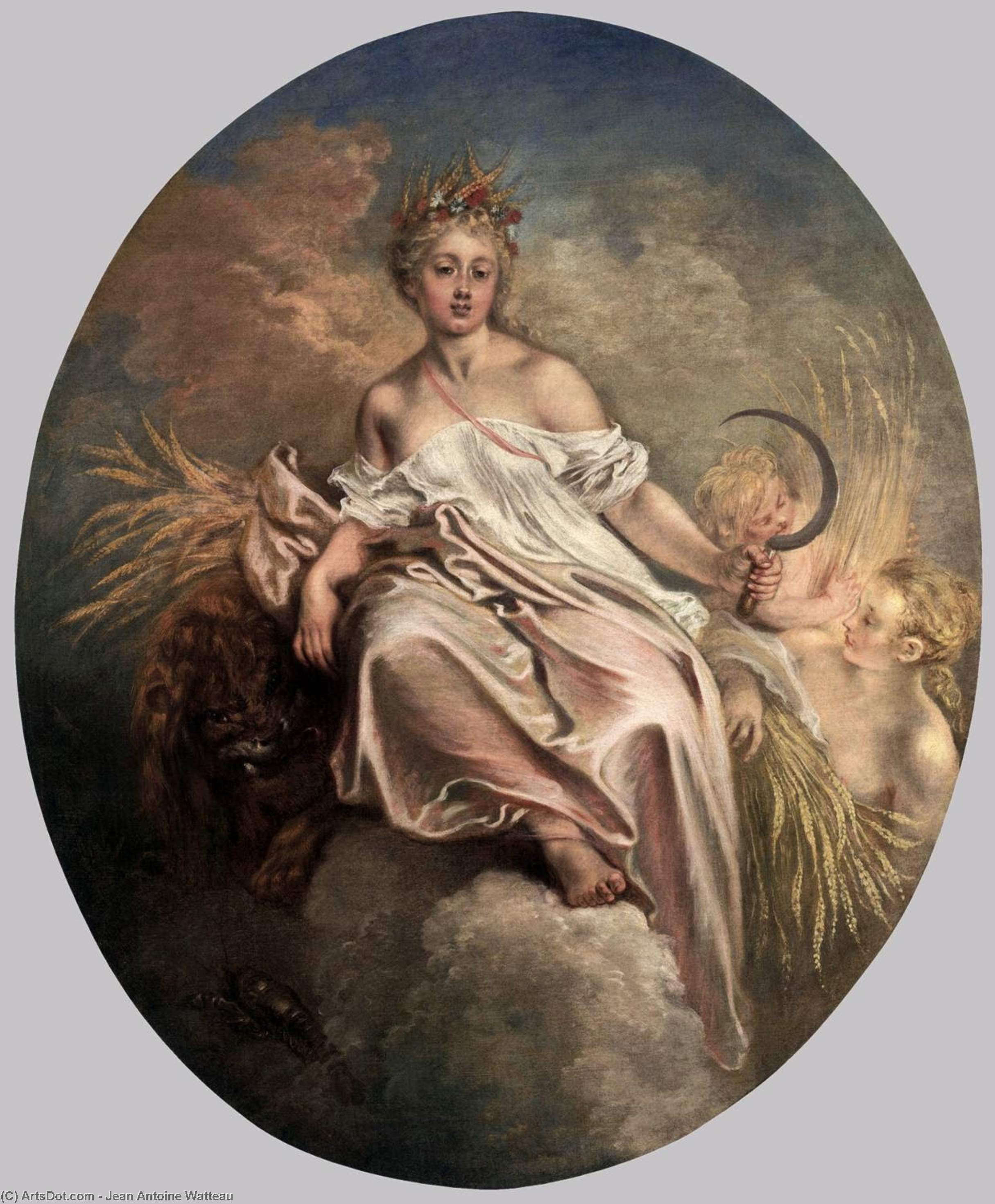 Ceres (Summer), 1717 by Jean Antoine Watteau (1684-1721, France) | Oil Painting | ArtsDot.com
