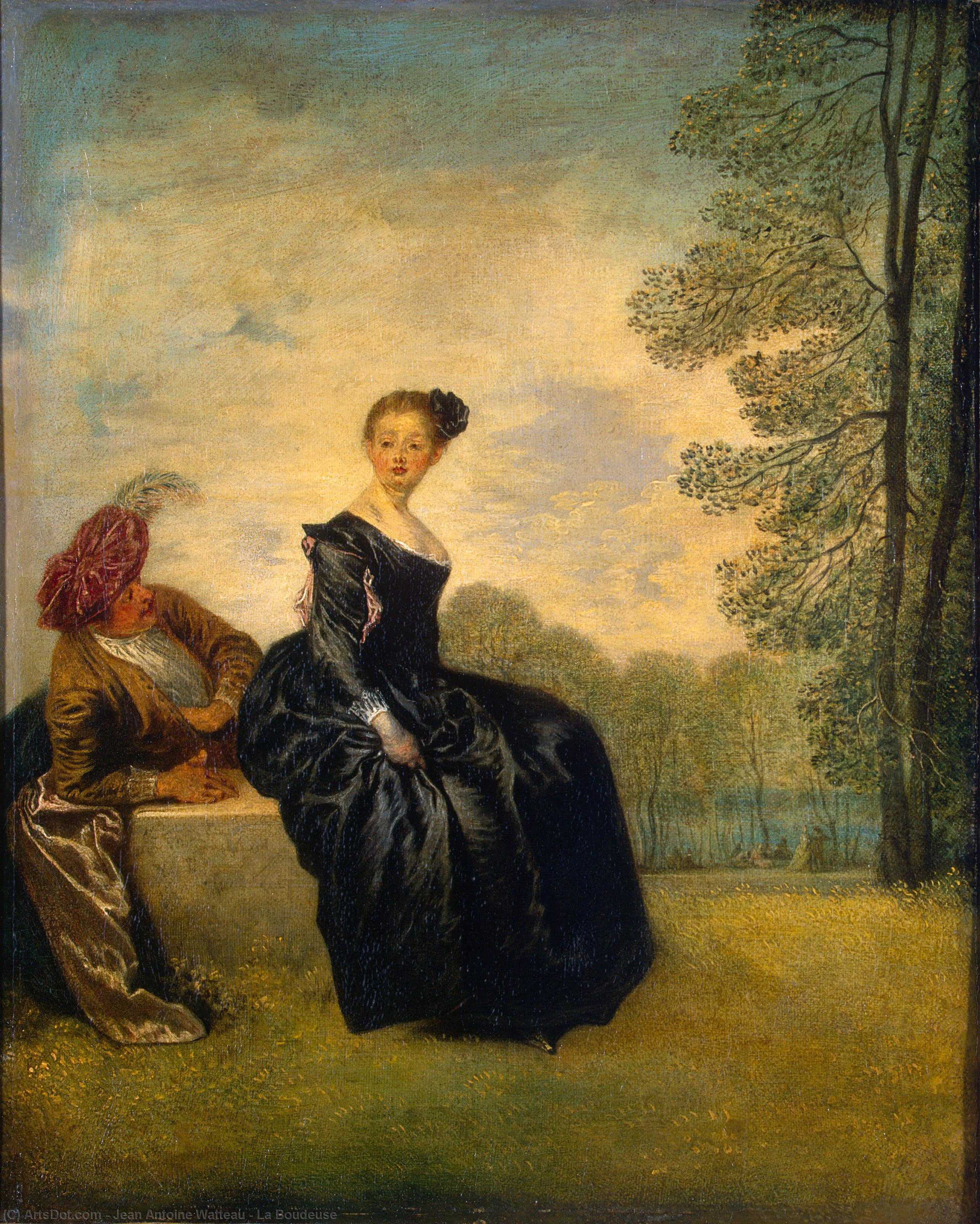 Order Art Reproduction : La Boudeuse, 1718 by Jean Antoine Watteau (1684-1721, France) | ArtsDot.com
