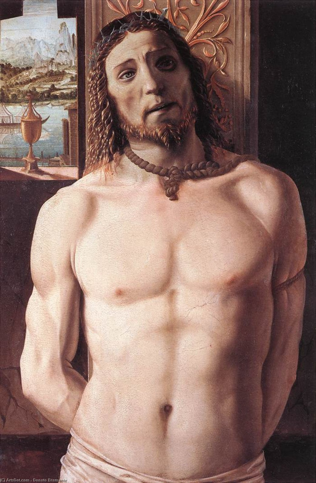 Christ at the Column, 1490 by Donato Bramante (1444-1514, Italy) | Museum Quality Reproductions | ArtsDot.com