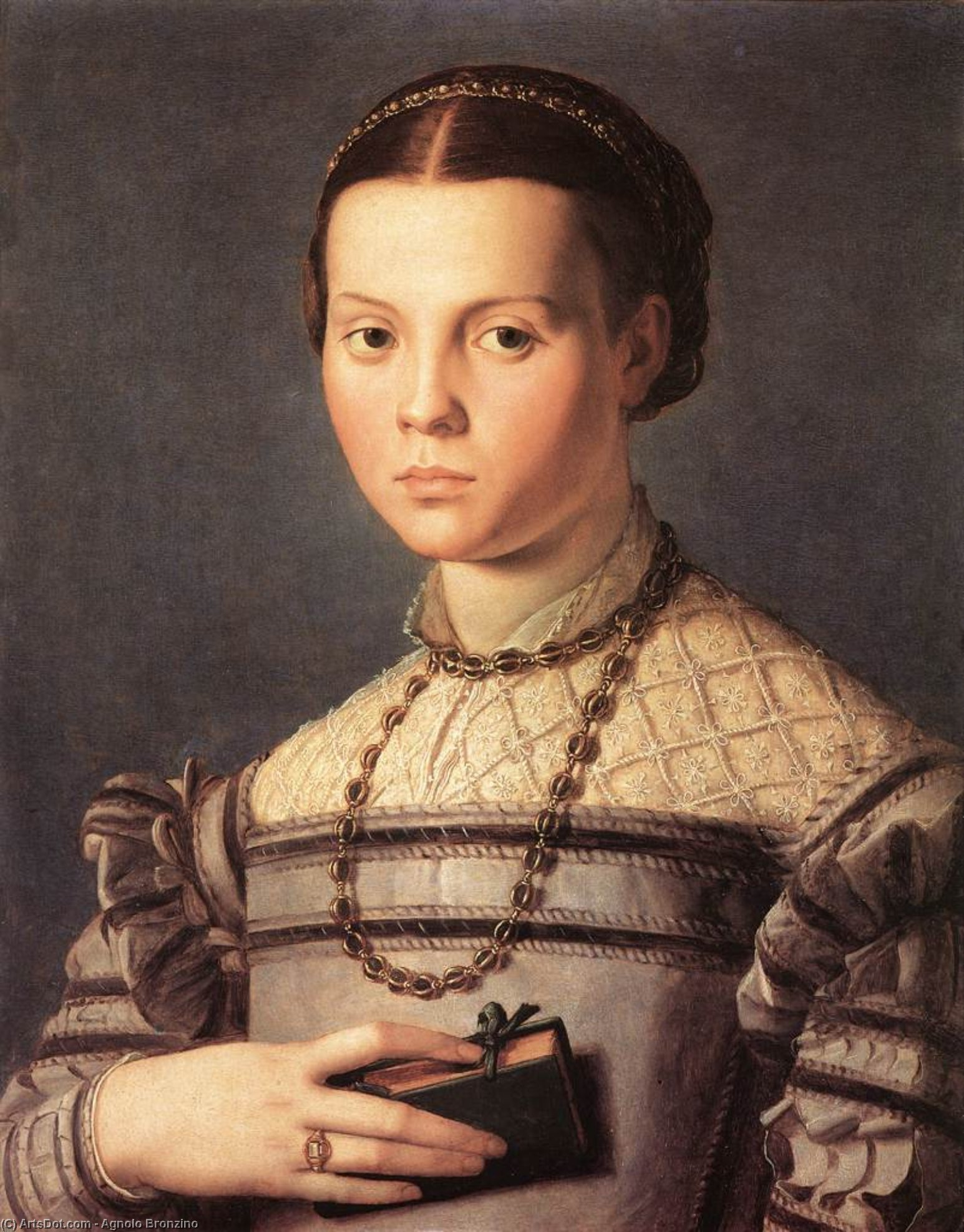 Portrait of a Young Girl, 1541 by Agnolo Bronzino (1503-1572, Italy) | Paintings Reproductions Agnolo Bronzino | ArtsDot.com