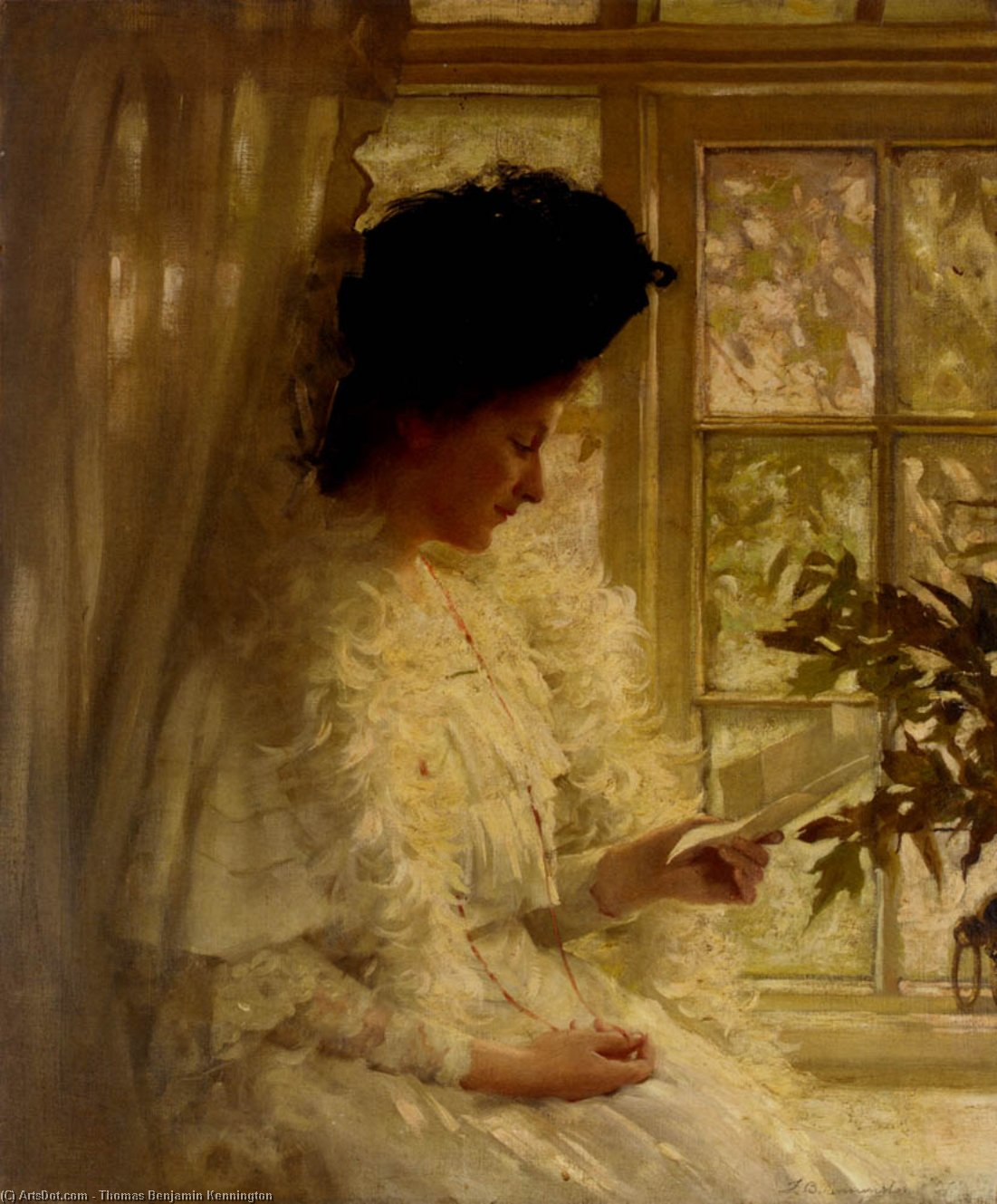 The Letter by Thomas Benjamin Kennington (1856-1916, United Kingdom)