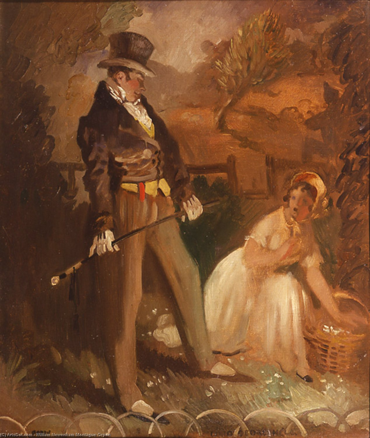 Lord George Hell, Oil On Canvas by William Newenham Montague Orpen (1878-1931, Ireland)