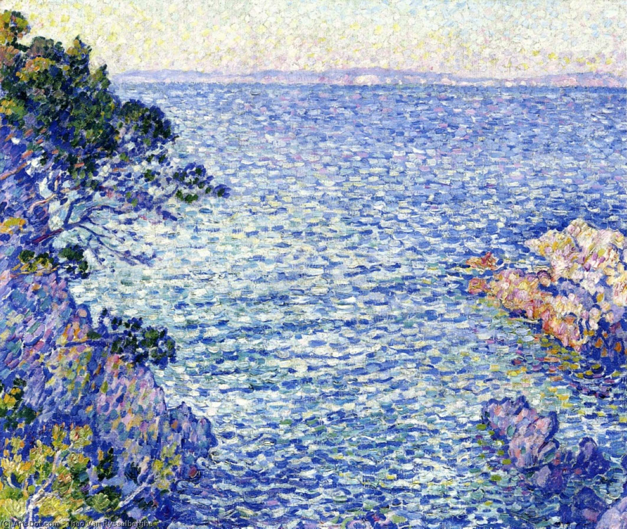 La Pointe du Rossignol, i, Oil On Canvas by Theo Van Rysselberghe (1862-1926, Belgium)