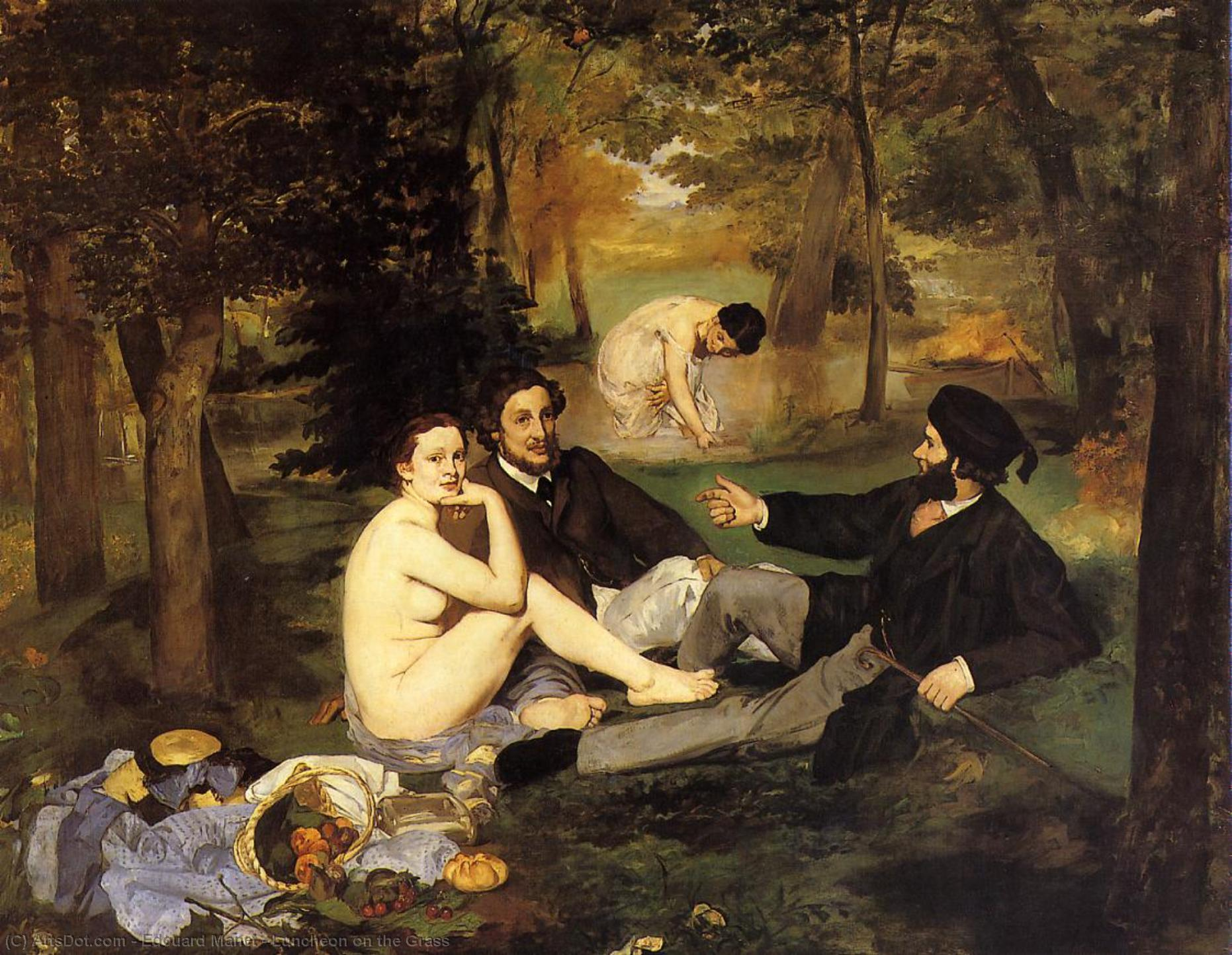 Luncheon on the Grass, 1863 by Edouard Manet (1832-1883, France) | Museum Art Reproductions | ArtsDot.com