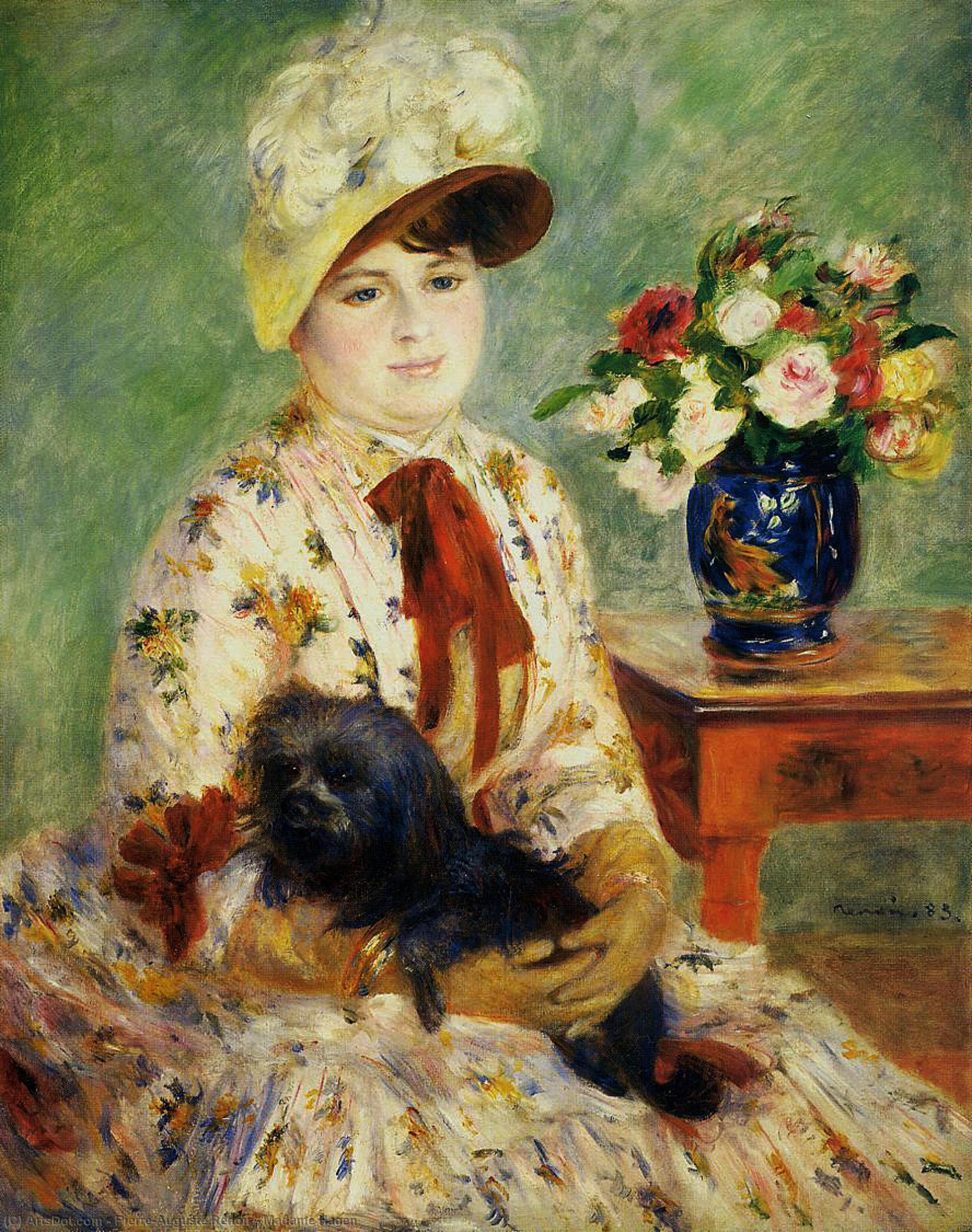 Madame Hagen, 1883 by Pierre-Auguste Renoir (1841-1919, France) | Museum Art Reproductions | ArtsDot.com
