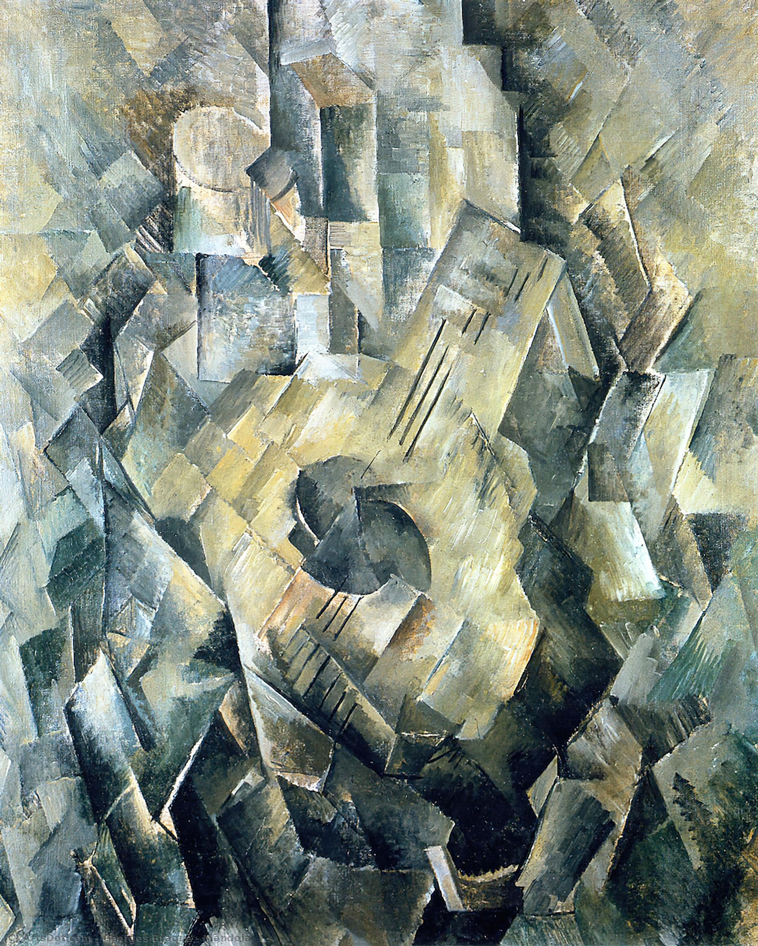 Mandola, 1910 by Georges Braque (1882-1963, France) | Museum Art Reproductions | ArtsDot.com