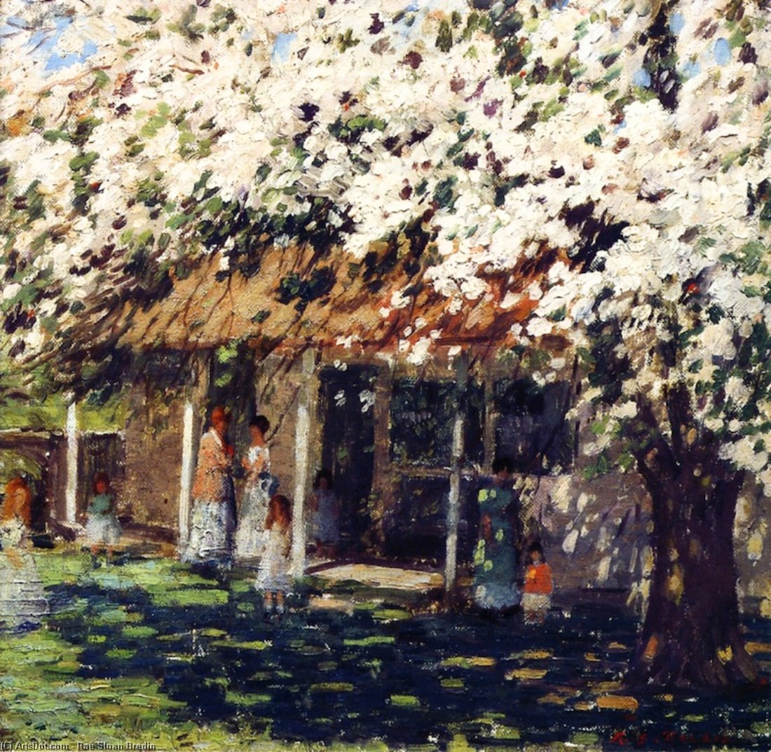 May Day, Oil On Panel by Rae Sloan Bredin (1880-1933, United States)