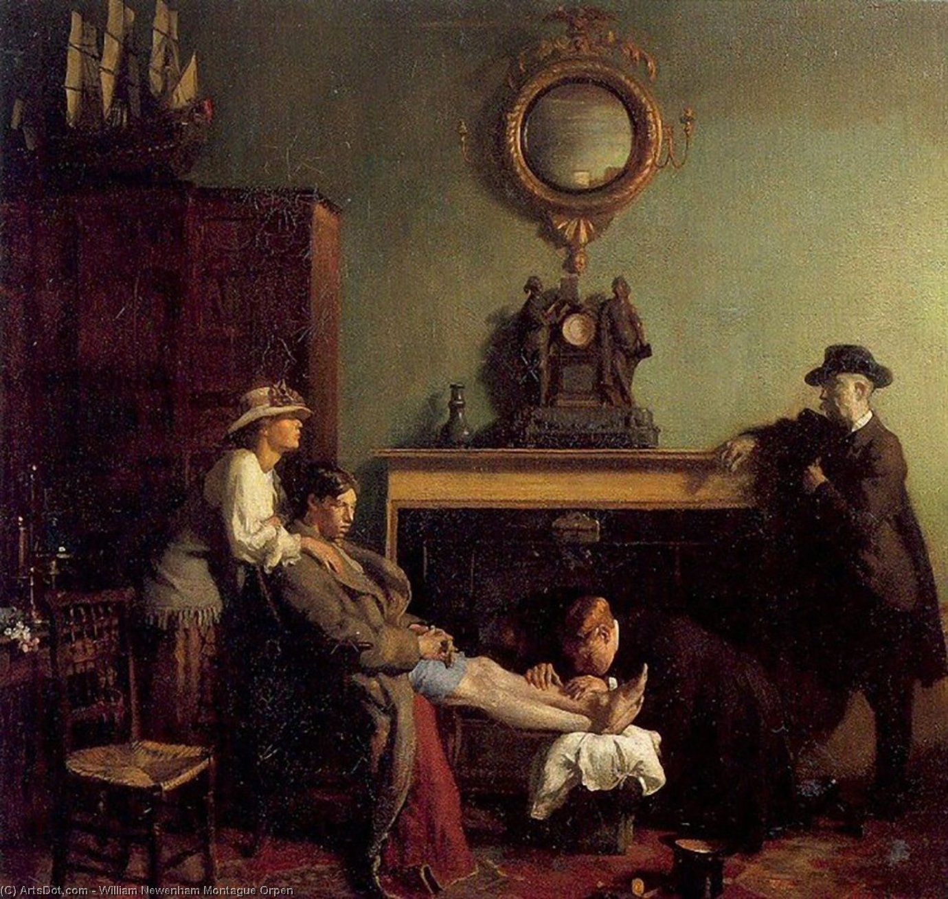 A Mere Fracture, 1901 by William Newenham Montague Orpen (1878-1931, Ireland) | Art Reproduction | ArtsDot.com