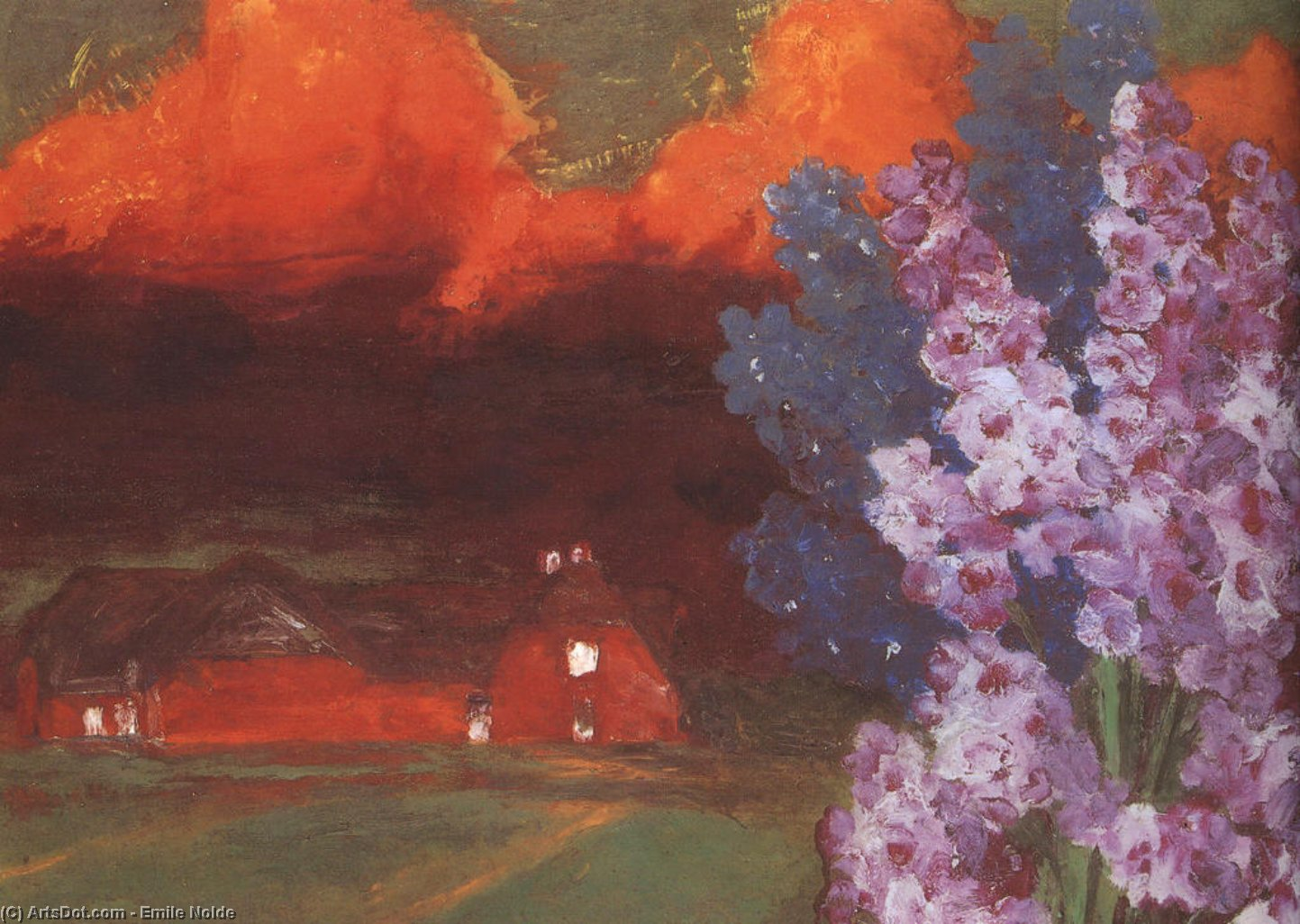 Muggy Evening, 1930 by Emile Nolde (1867-1956, Germany) | ArtsDot.com