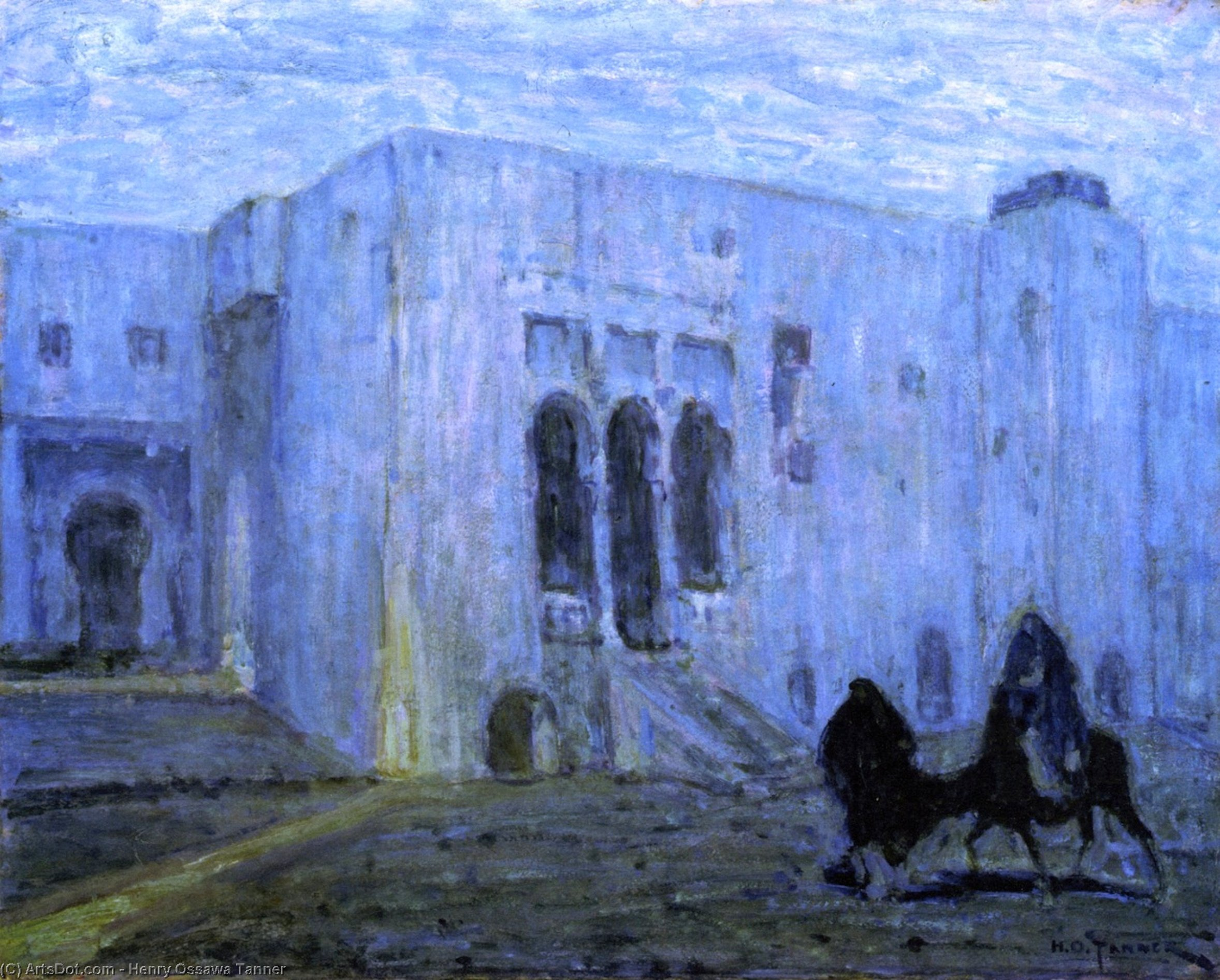 Palace of Justice, Tangier, Oil On Canvas by Henry Ossawa Tanner (1859-1937, United States)