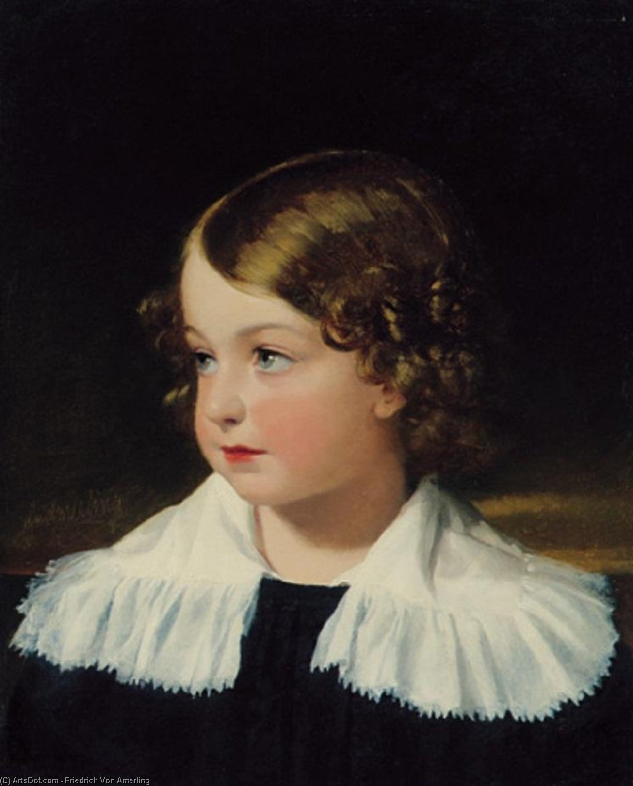 Portrait of a Boy (also known as Eduard Edler von Mosel), 1830 by Friedrich Ritter Von Amerling (1803-1887) | Art Reproduction | ArtsDot.com