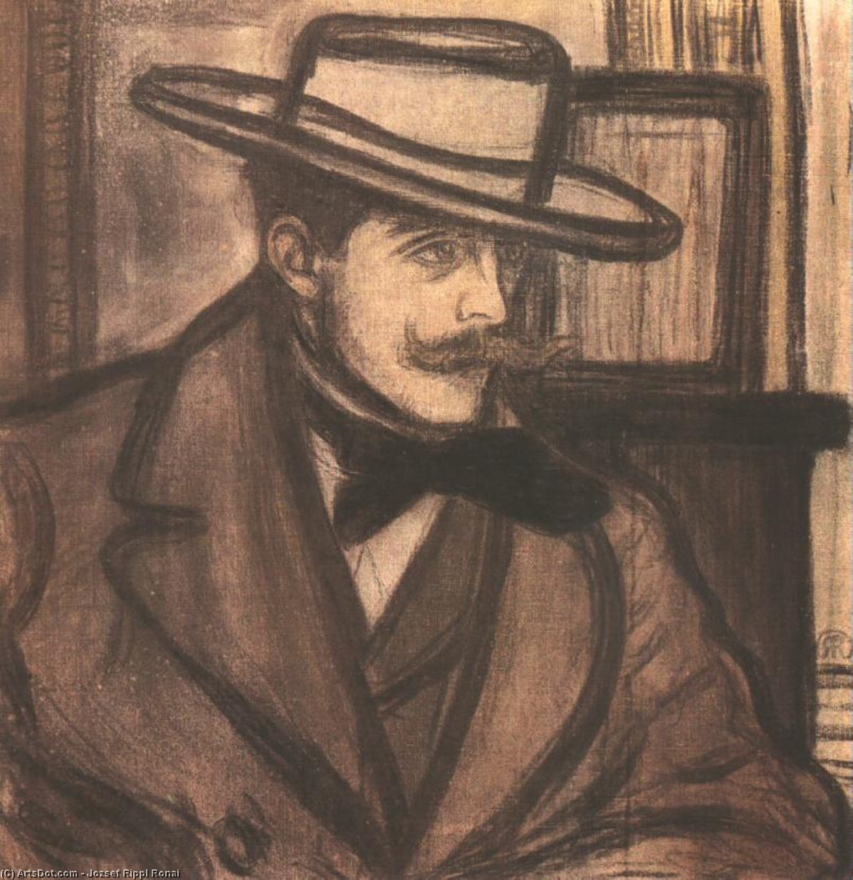 Portrait of James Pitcairn Knowles, 1892 by Jozsef Rippl Ronai (1861-1927, Hungary) | Museum Art Reproductions | ArtsDot.com