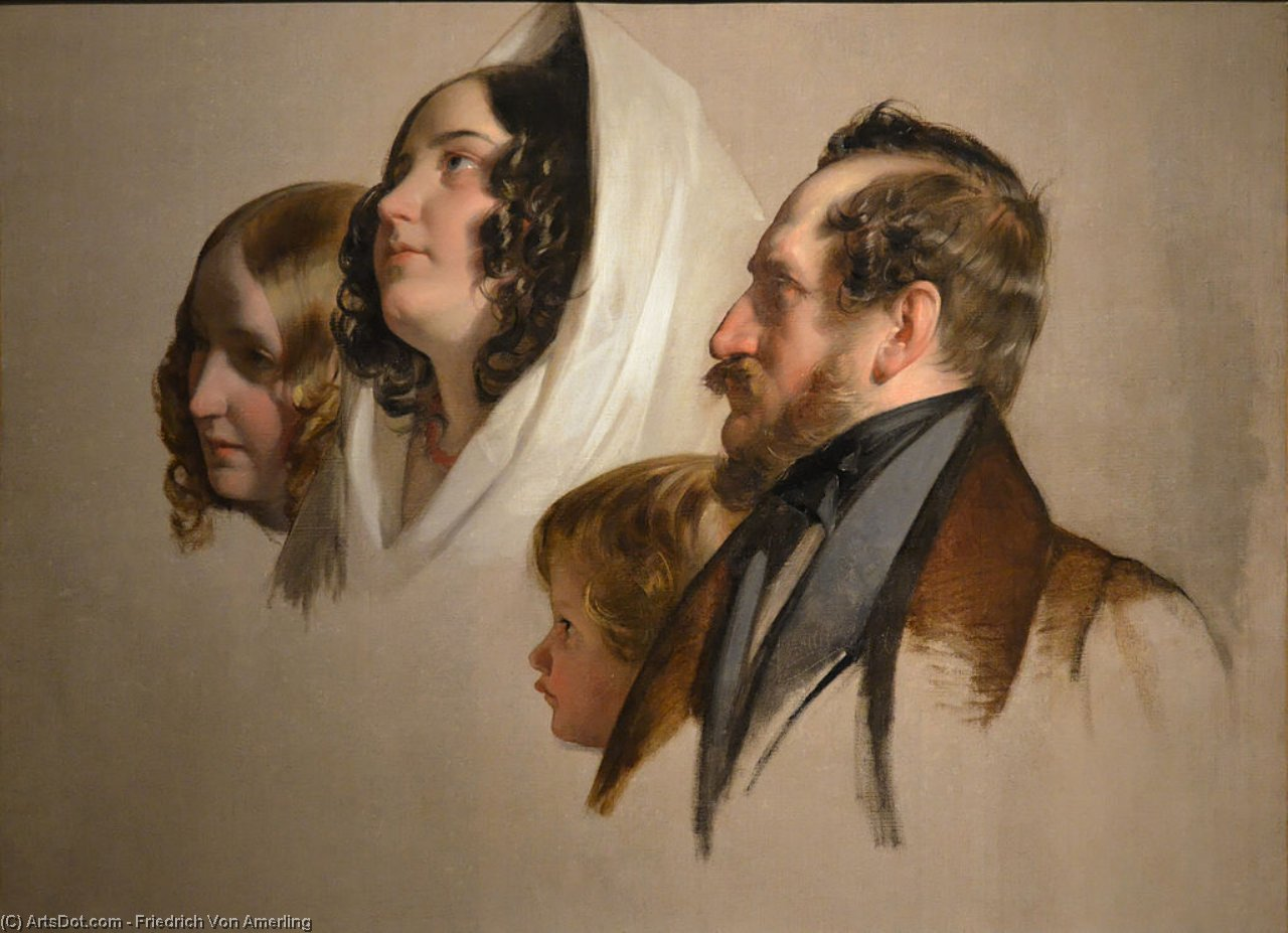Order Oil Painting : Portrait-study by Friedrich Ritter Von Amerling (1803-1887) | ArtsDot.com