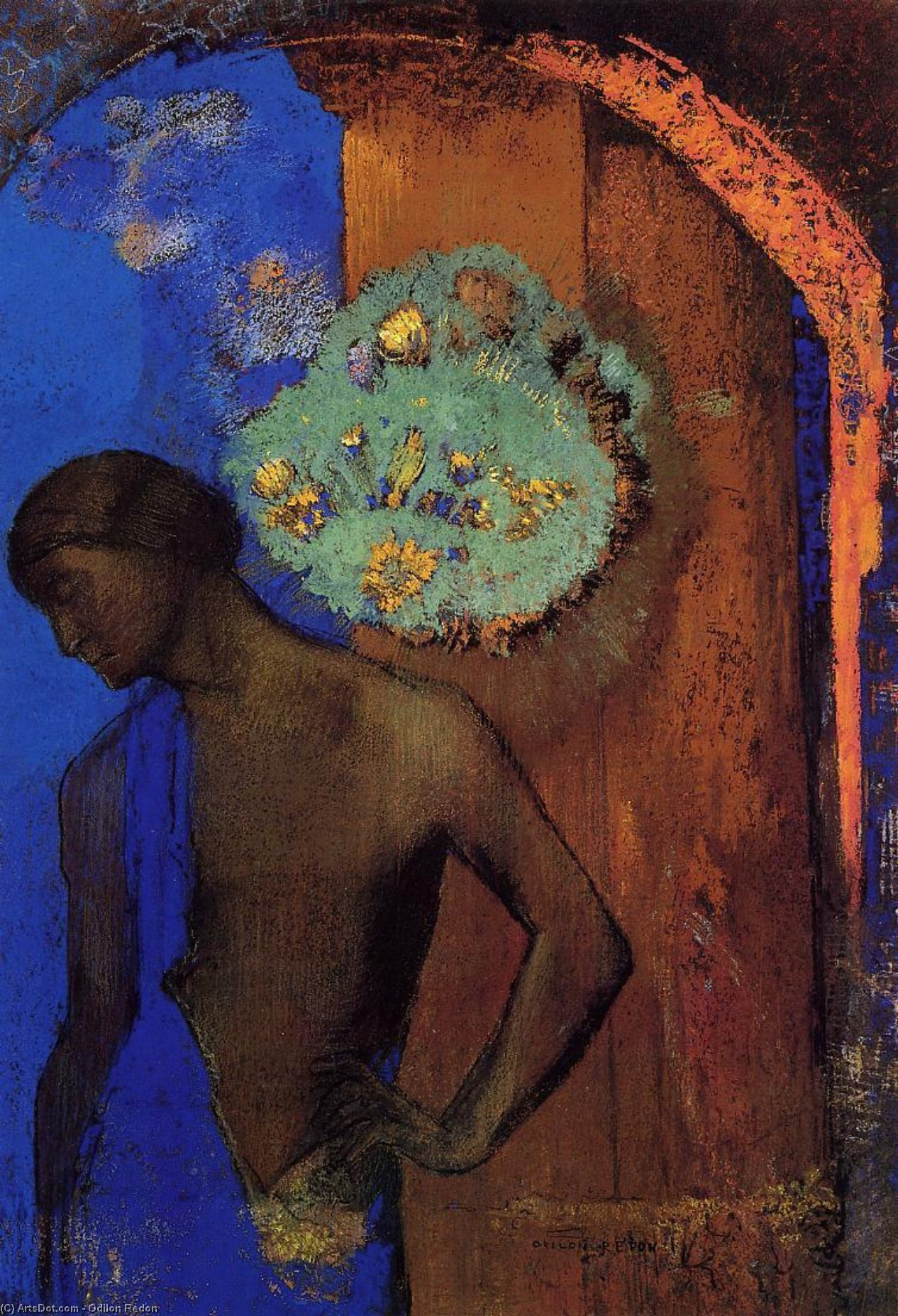 Saint John (also known as The Blue Tunic), 1892 by Odilon Redon (1840-1916, France) | Museum Art Reproductions | ArtsDot.com