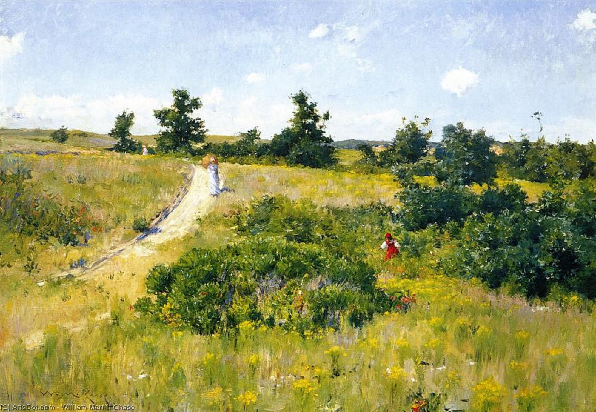 Shinnecock Landscape with Figures, 1895 by William Merritt Chase (1849-1916, United States)