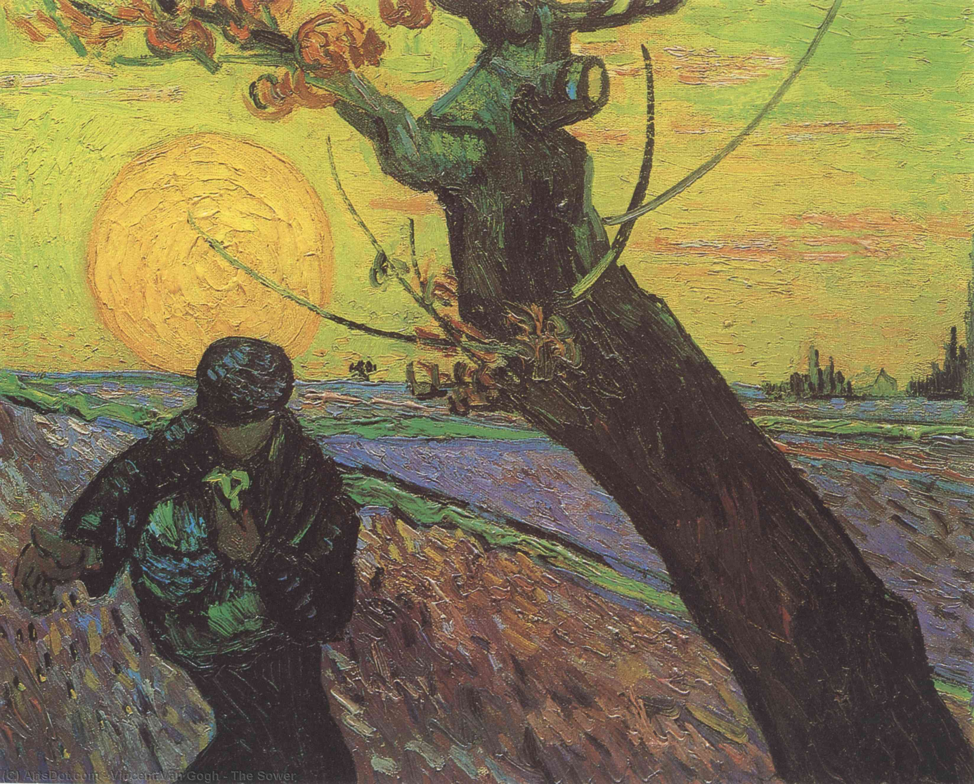 Buy Museum Art Reproductions | The Sower, 1888 by Vincent Van Gogh (1853-1890, Netherlands) | ArtsDot.com