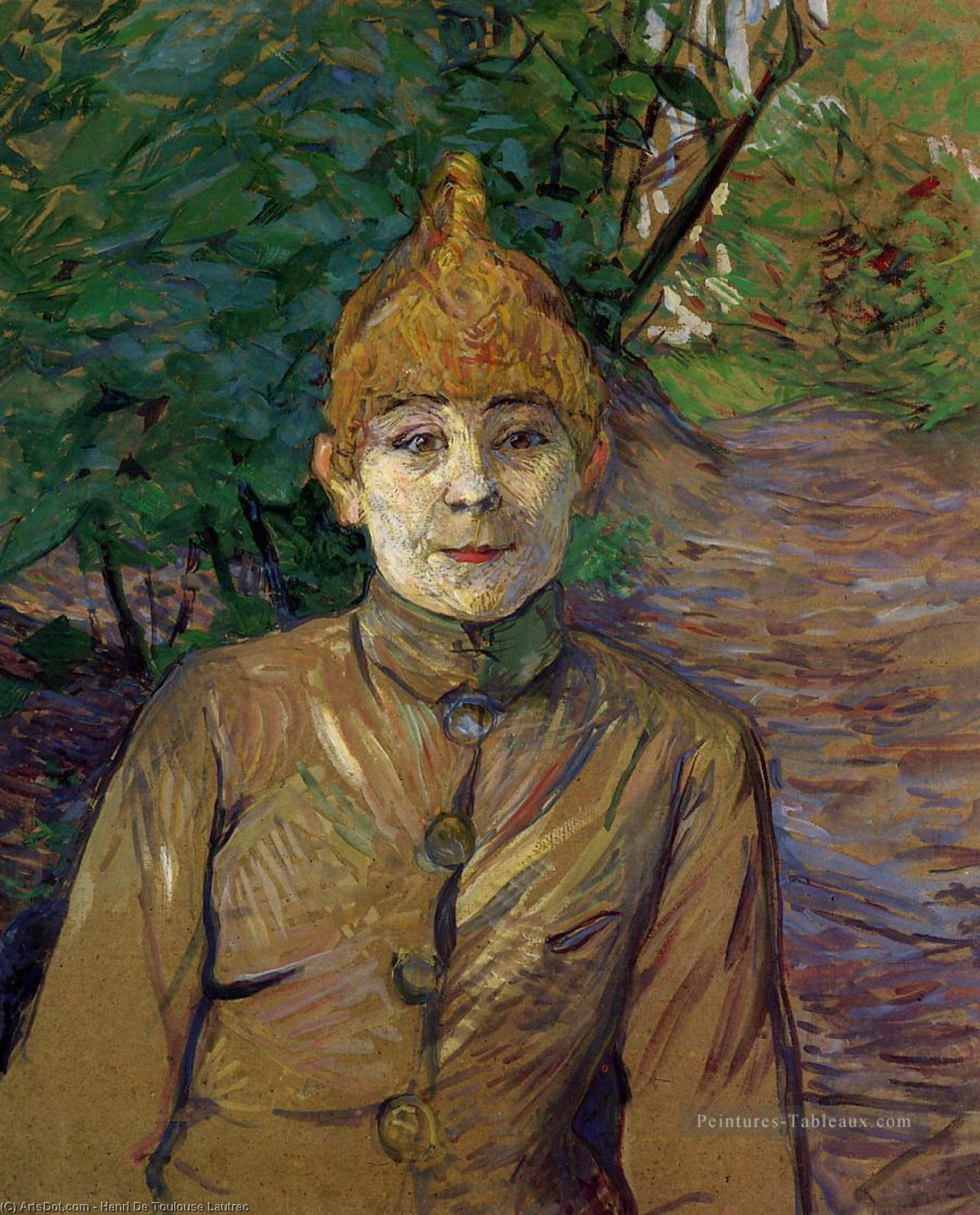 The Streetwalker (also known as Casque d Or), Oil by Henri De Toulouse Lautrec (1864-1901, France)